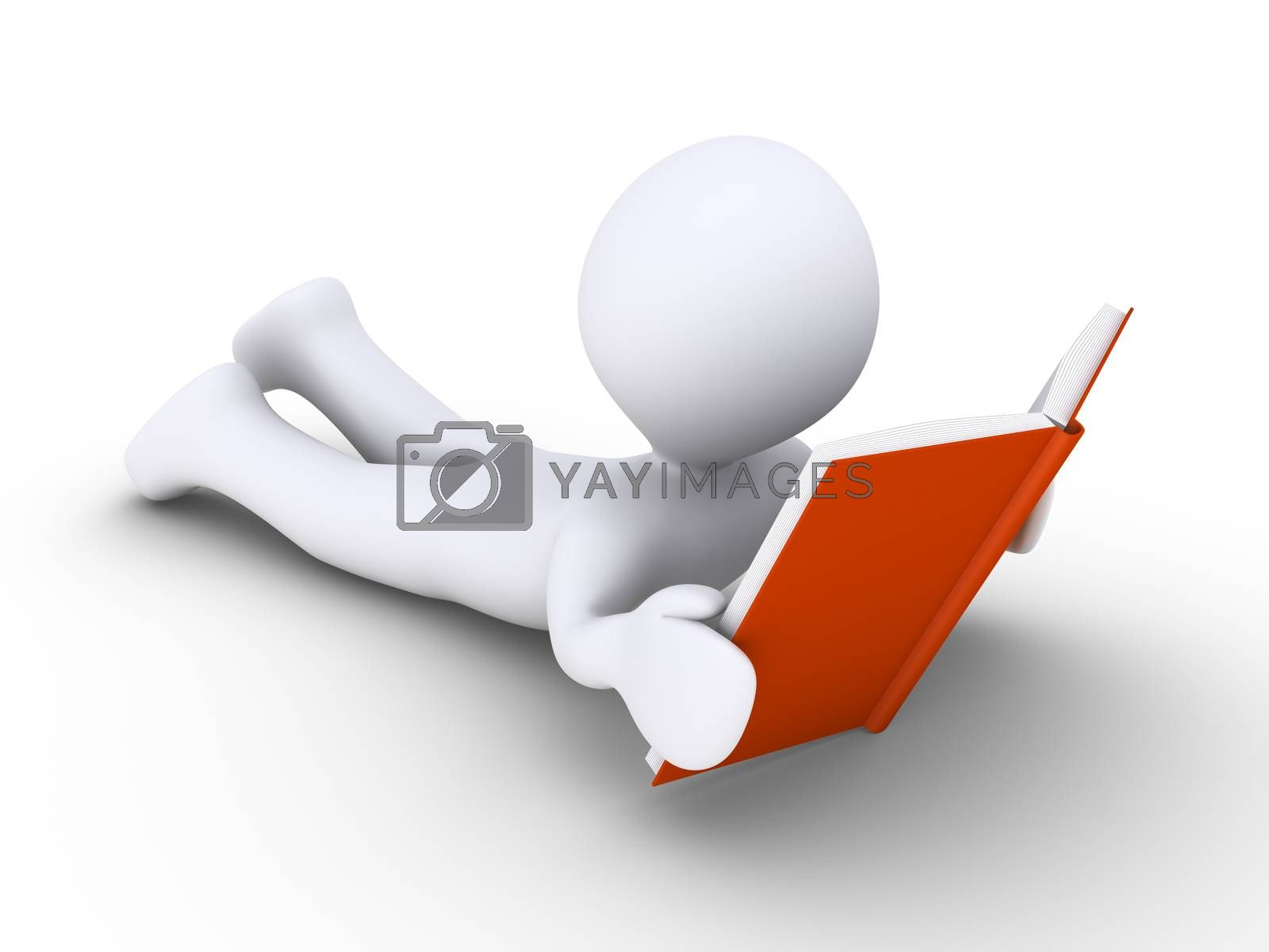 Royalty free image of Person reading a book by 6kor3dos
