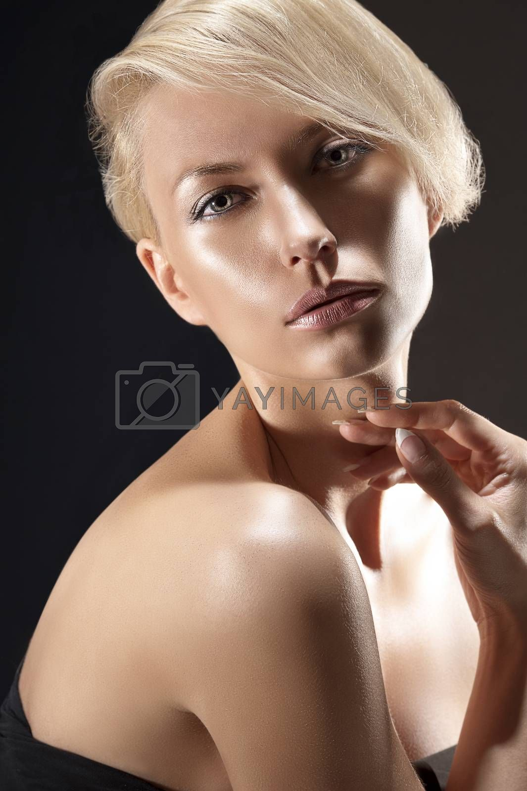 Royalty free image of beauty portrait of a gorgeous blonde by fotoCD