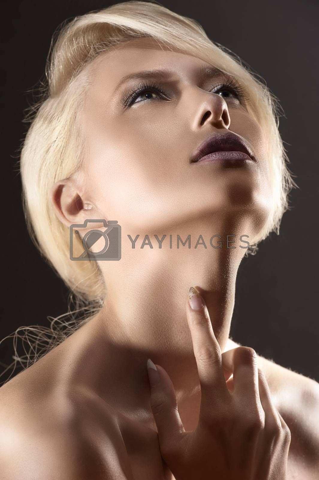 Royalty free image of portrait of a beautiful blonde girl by fotoCD