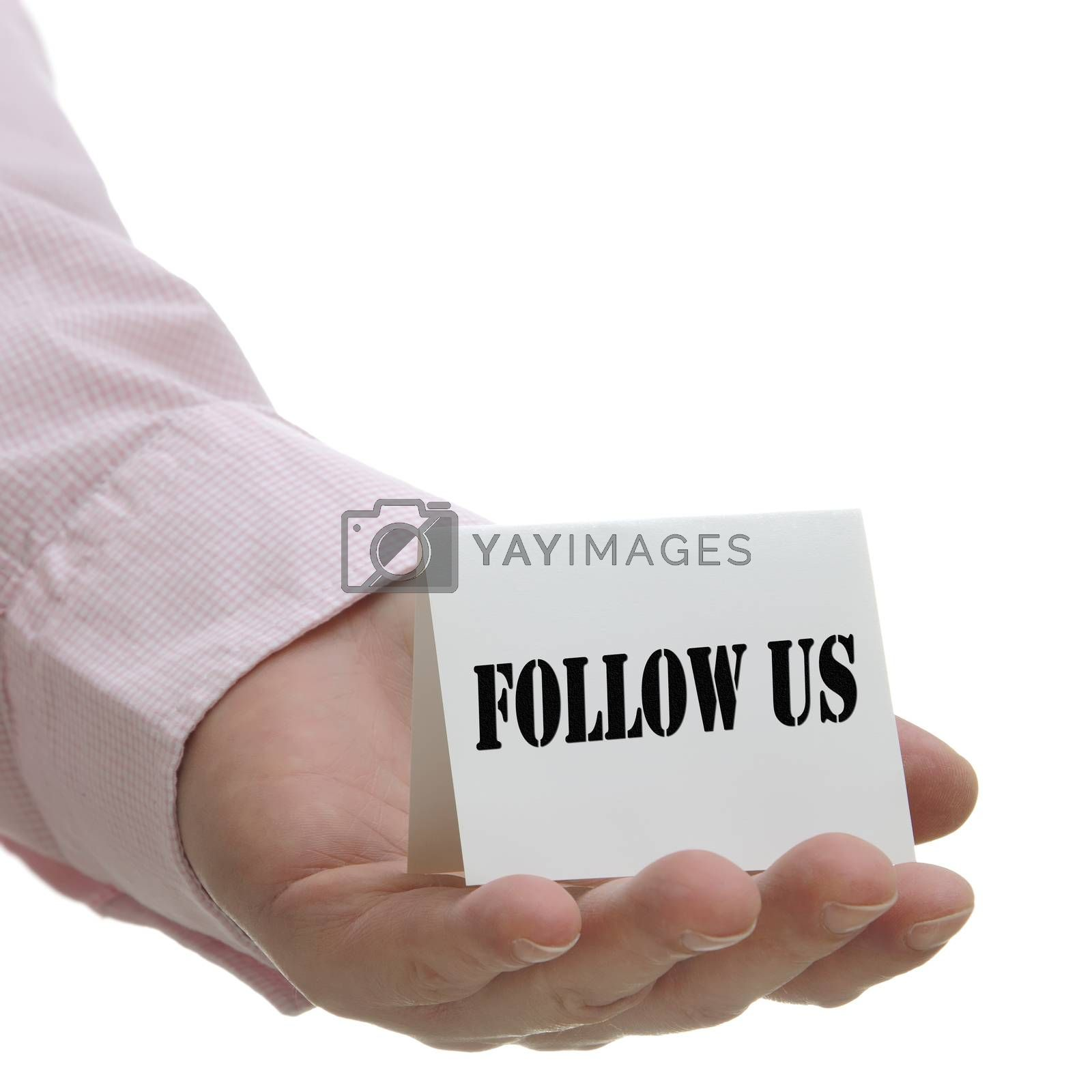 Royalty free image of Follow us - sign seriers by payphoto