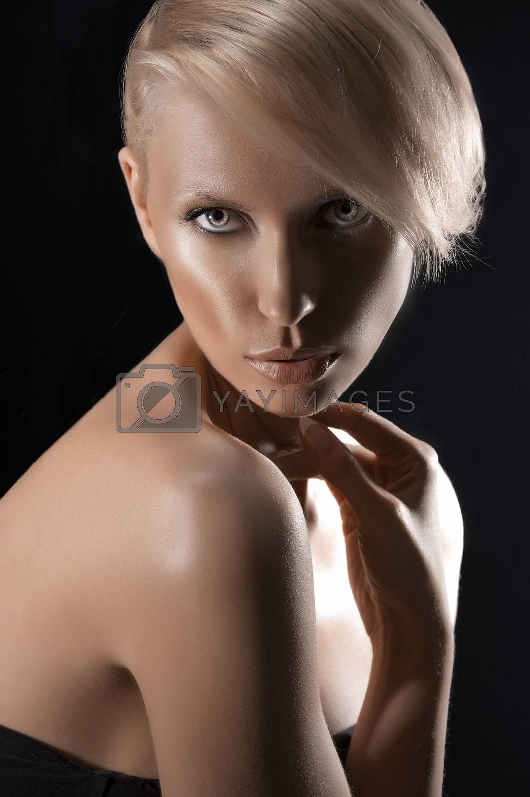 Royalty free image of beauty close up portrait of a blonde girl by fotoCD