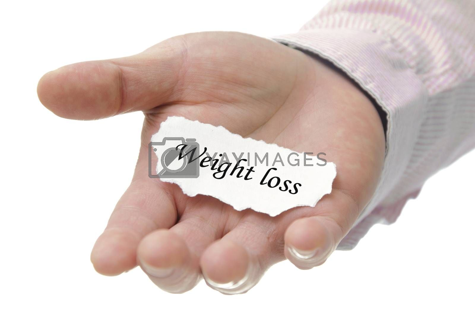 Royalty free image of Weight loss - note seriers by payphoto