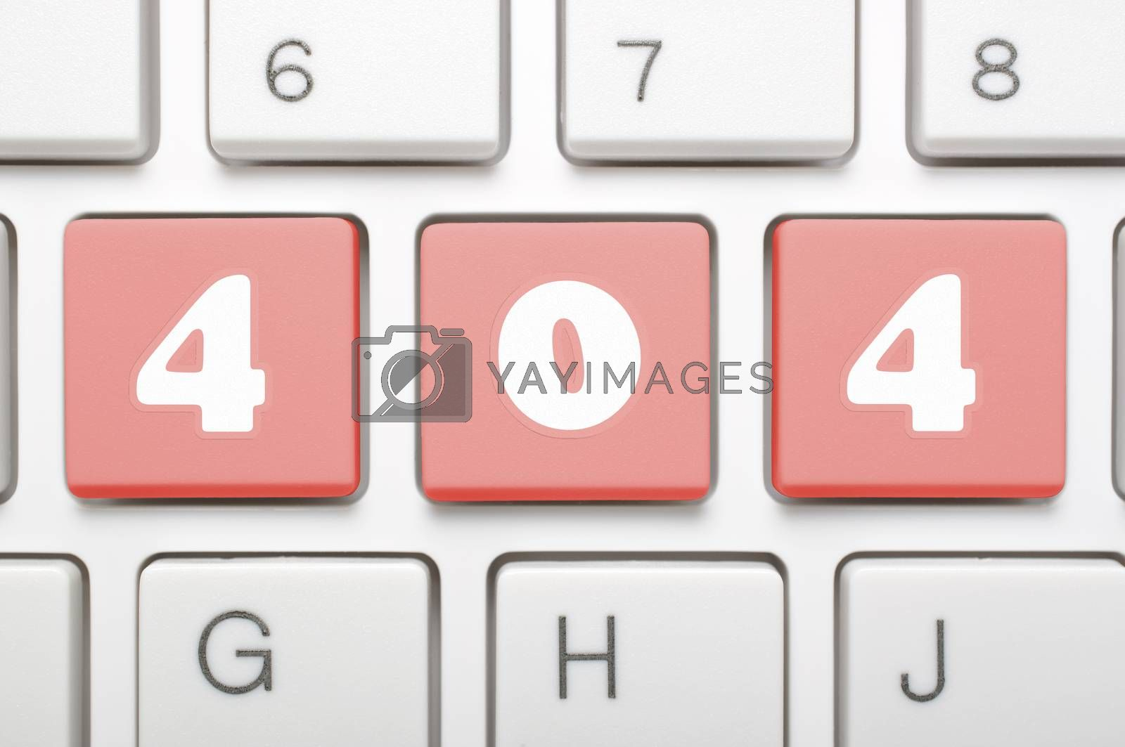 Royalty free image of 404 on keyboard  by payphoto