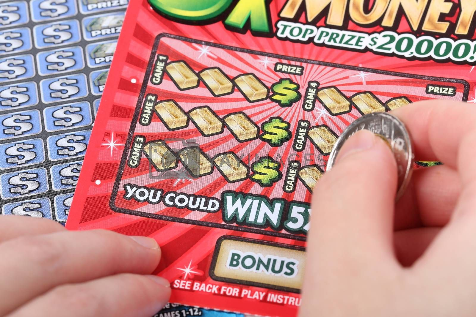 Royalty free image of Scratch ticket  by payphoto