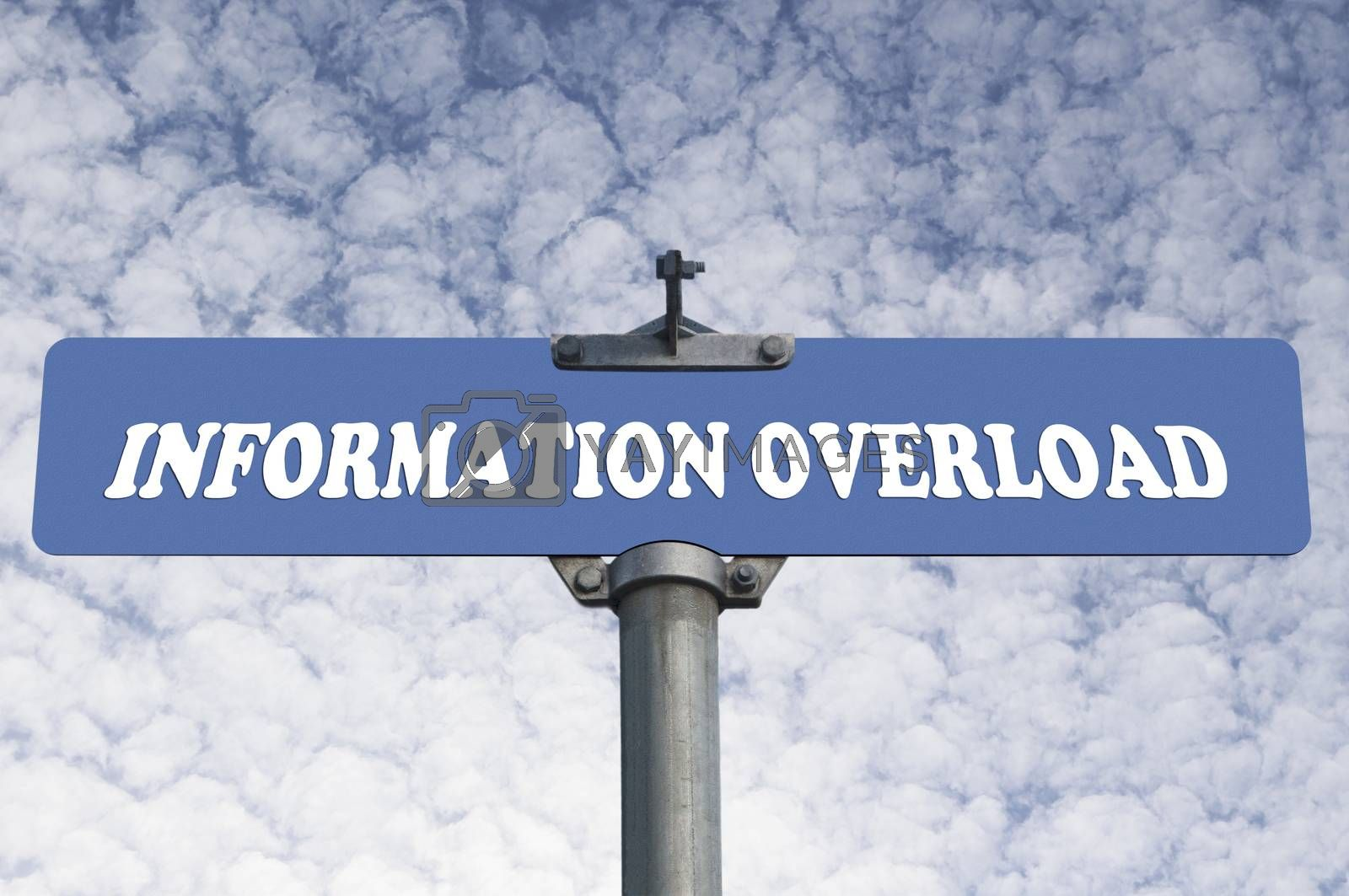 Royalty free image of Information overload road sign by payphoto