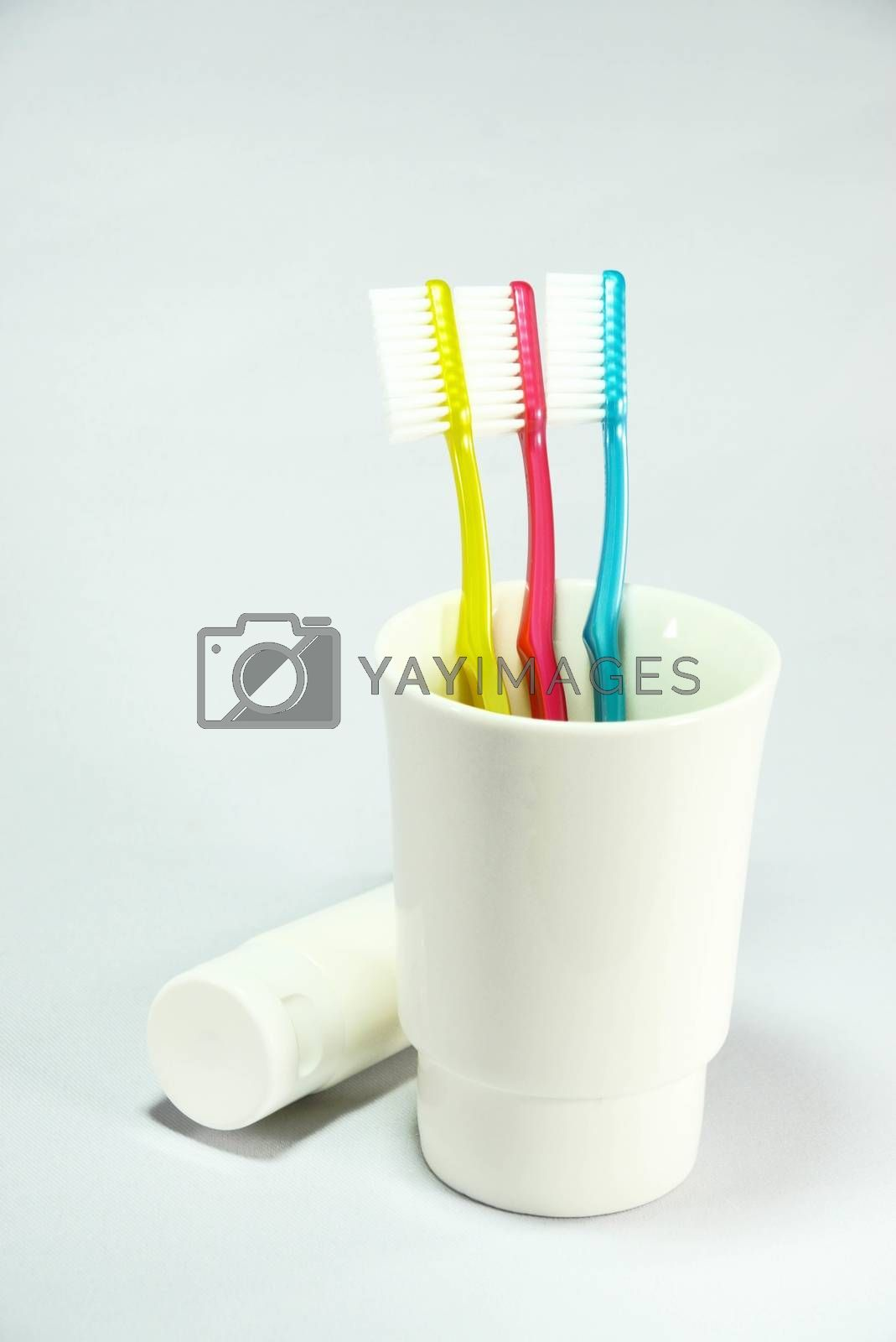Royalty free image of toothbrush set by nattapatt