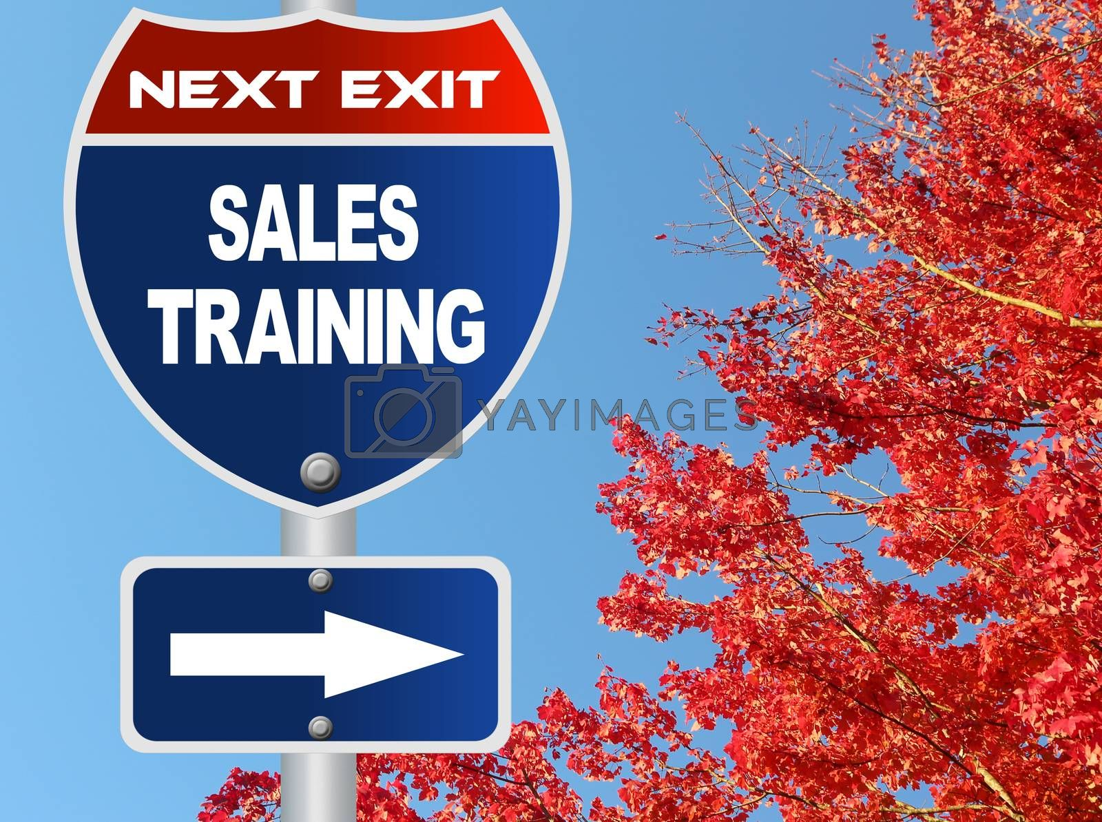 Royalty free image of Sales training road sign by payphoto