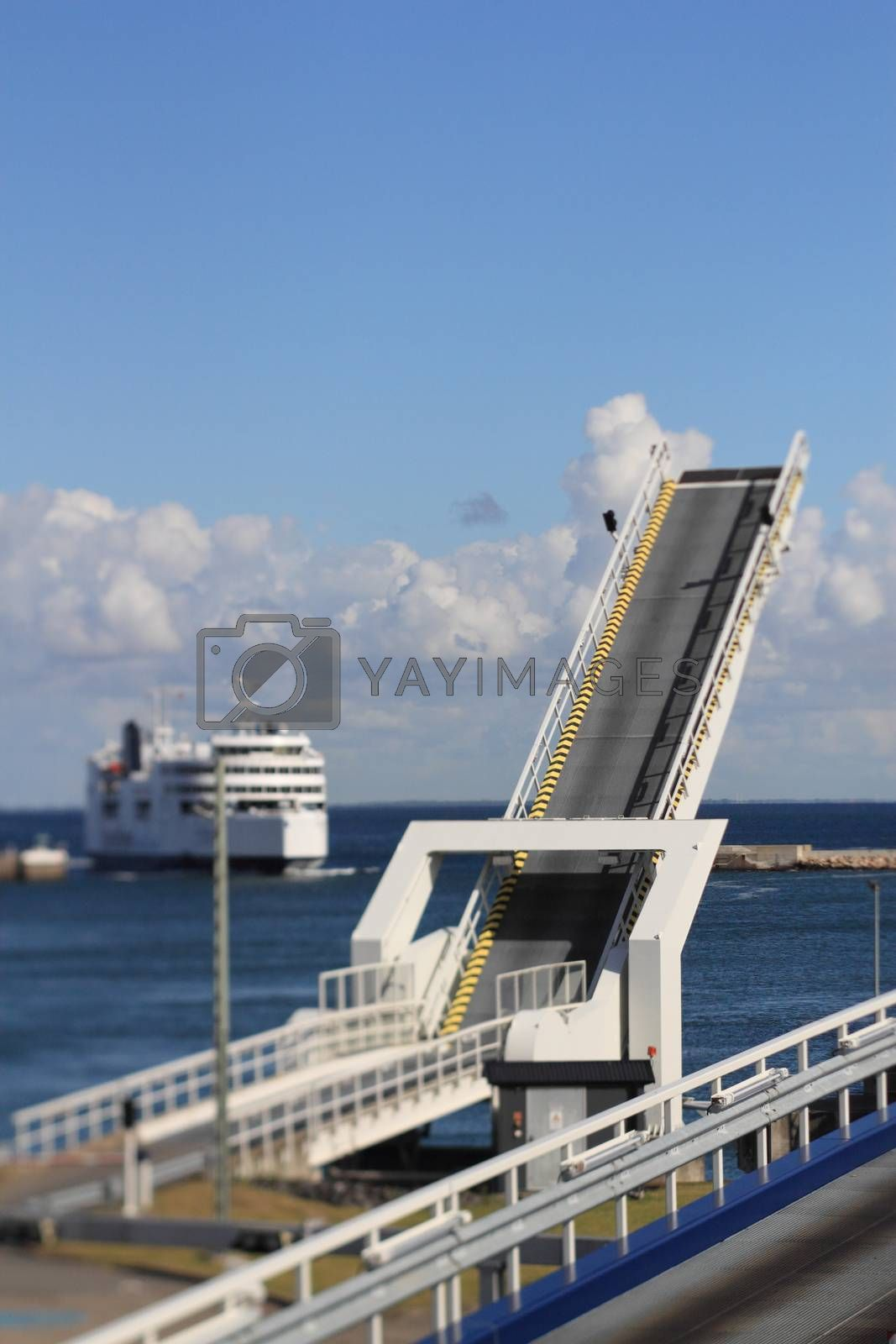 Royalty free image of ferry comes in by derausdo
