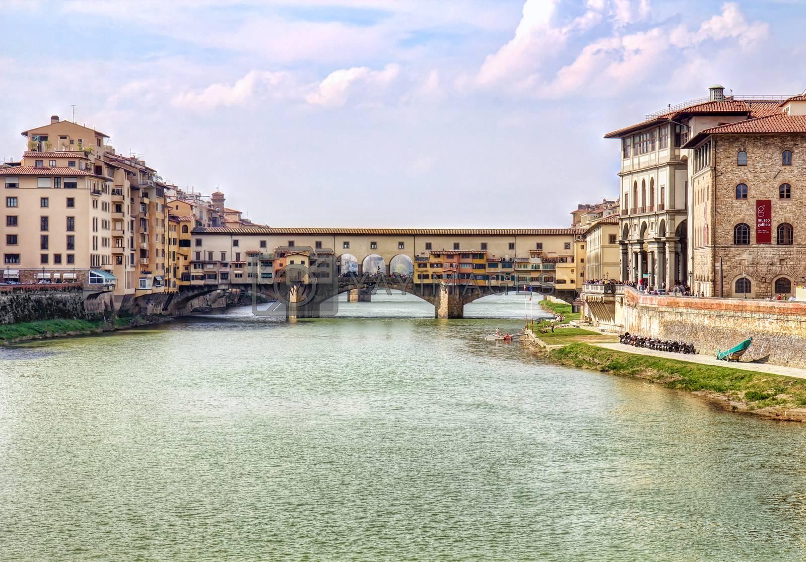 Royalty free image of Ponte Vecchio bridge in Florence by Brigida_Soriano