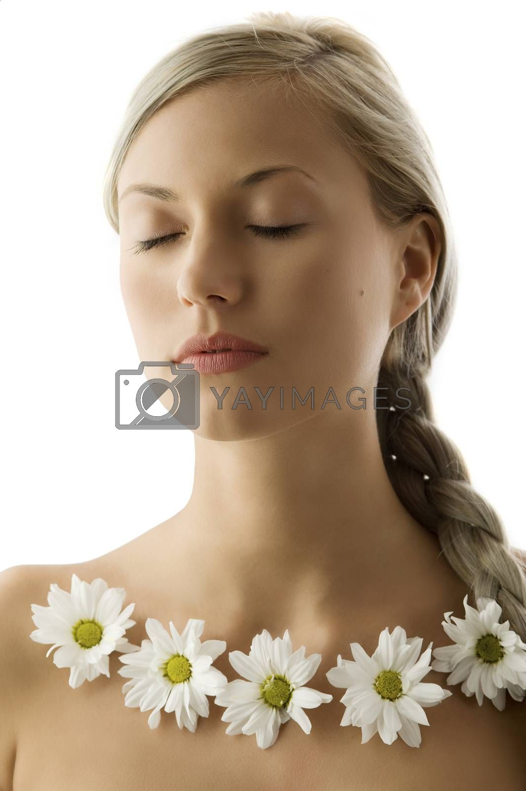 Royalty free image of blond with closed eyes by fotoCD