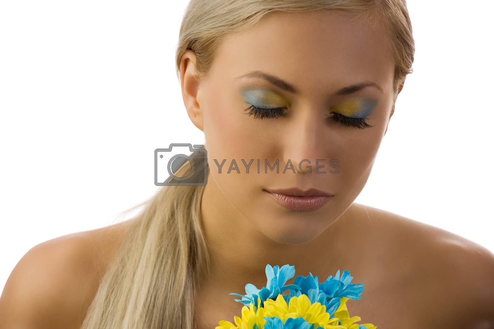 Royalty free image of yellow and blue beauty by fotoCD