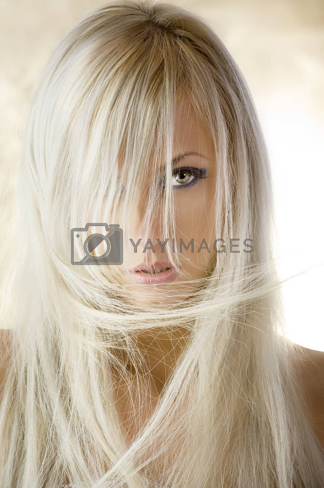 Royalty free image of the blond girl by fotoCD