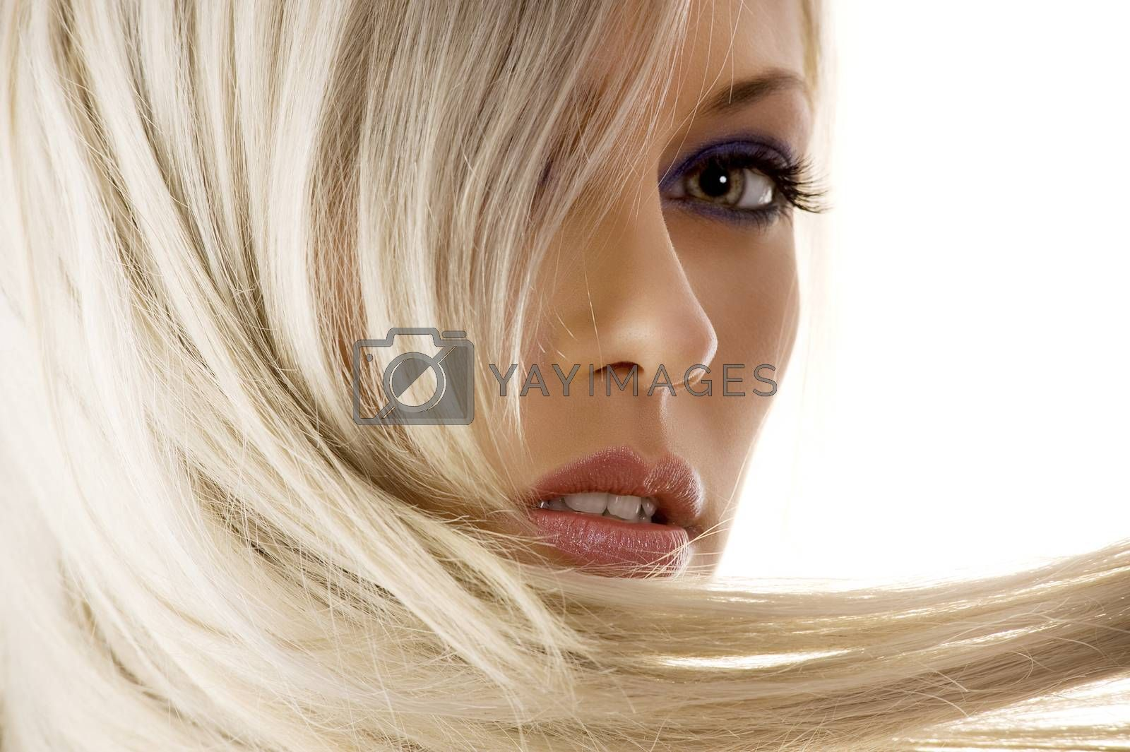 Royalty free image of closeup of blond girl by fotoCD