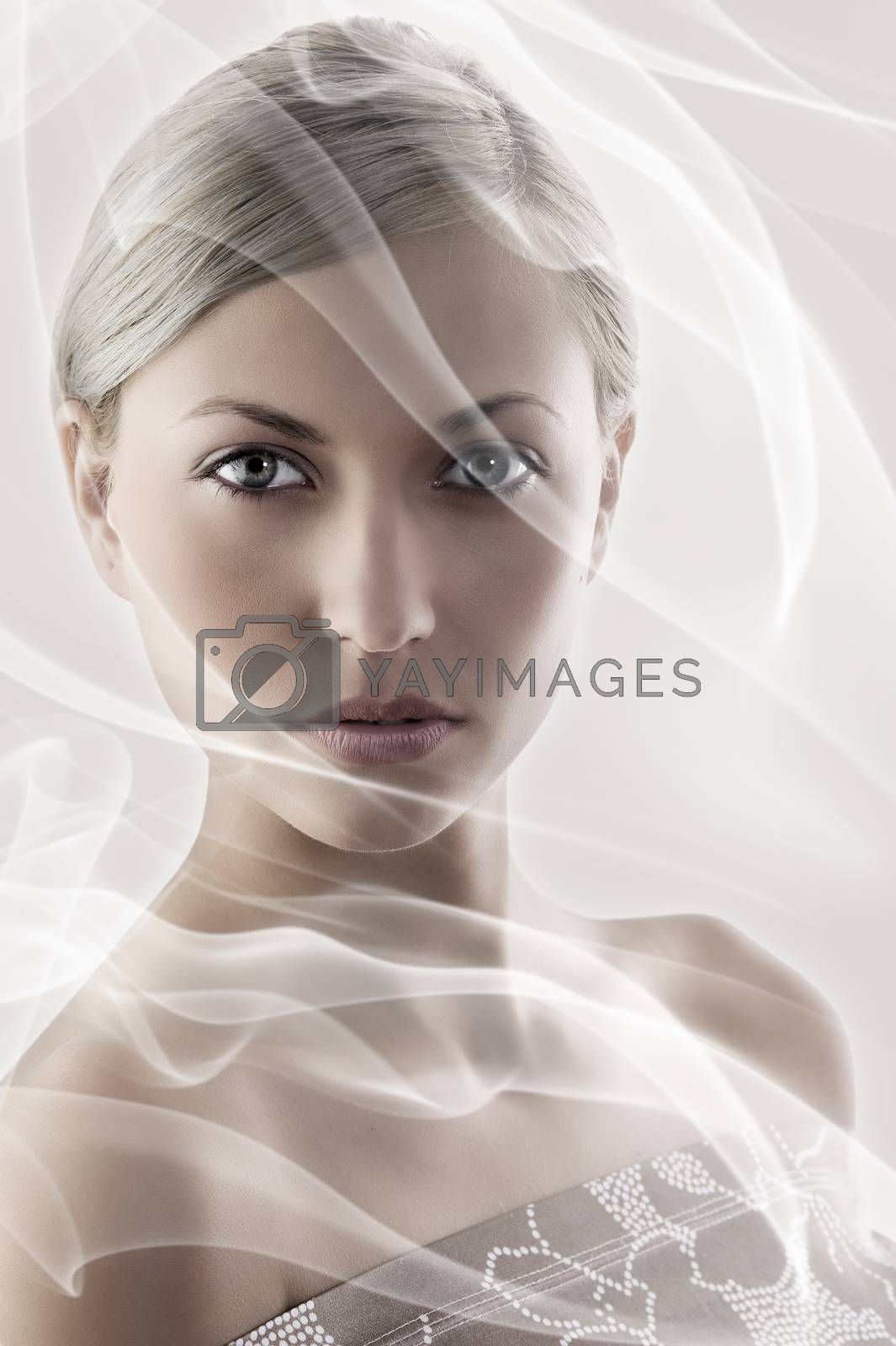 Royalty free image of the blond lady by fotoCD