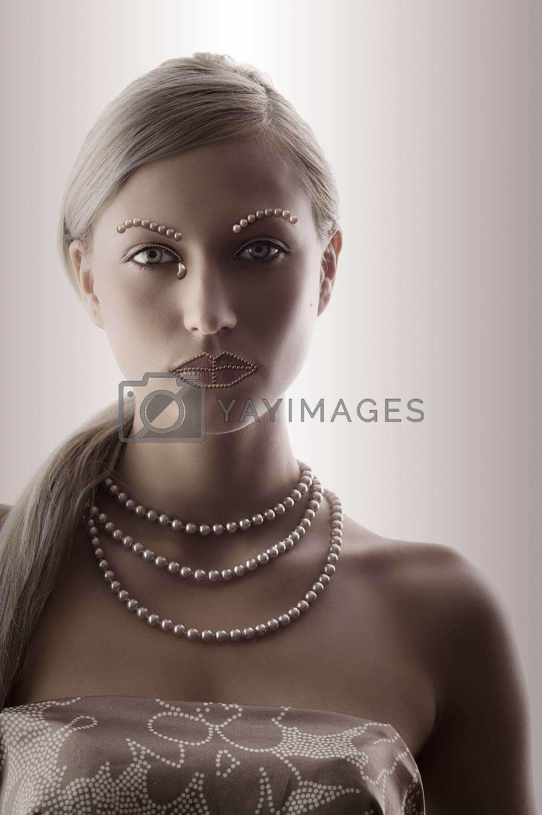 Royalty free image of portrait of blond girl by fotoCD