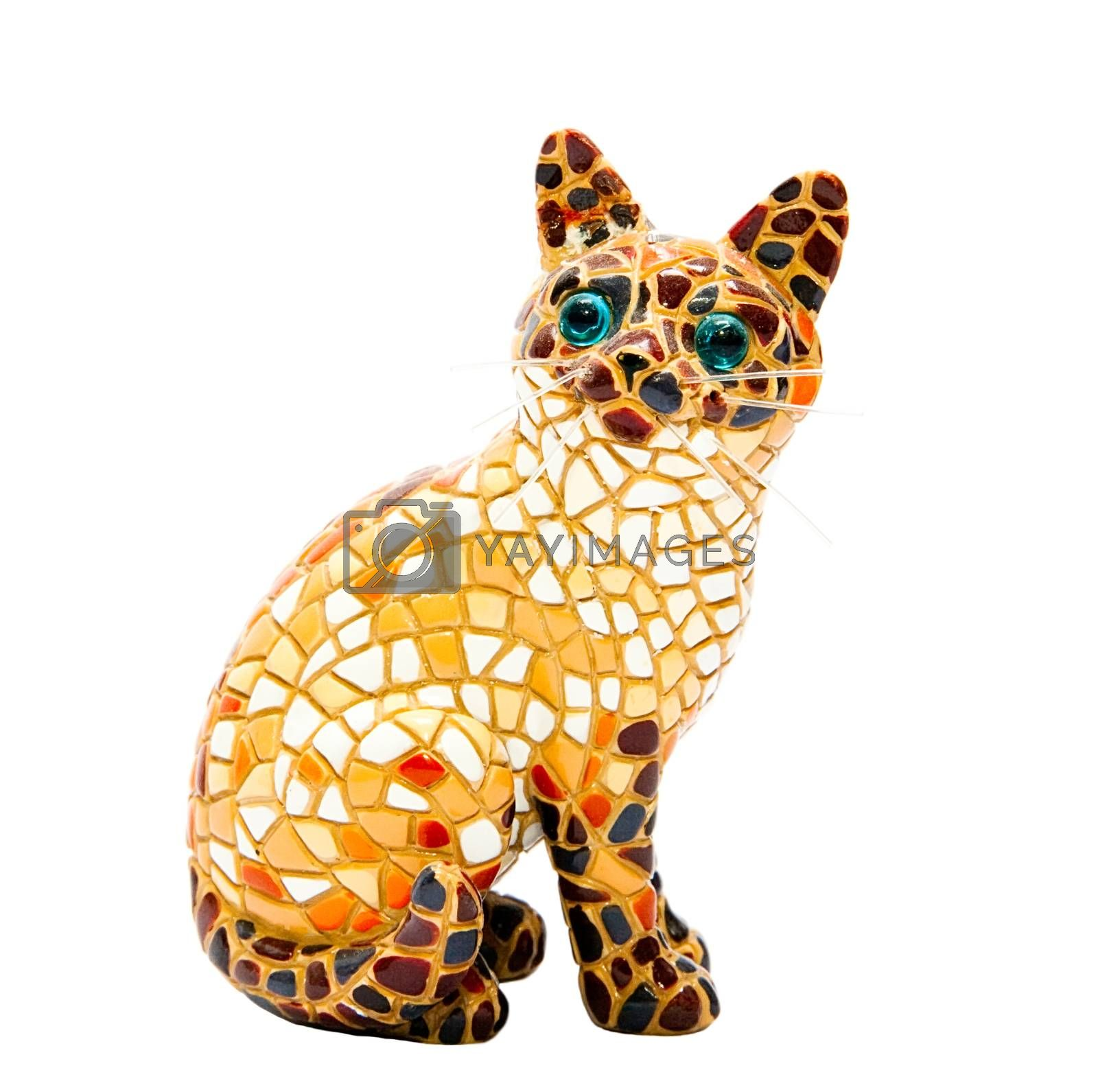 Royalty free image of Mosaic cat by Stavrida