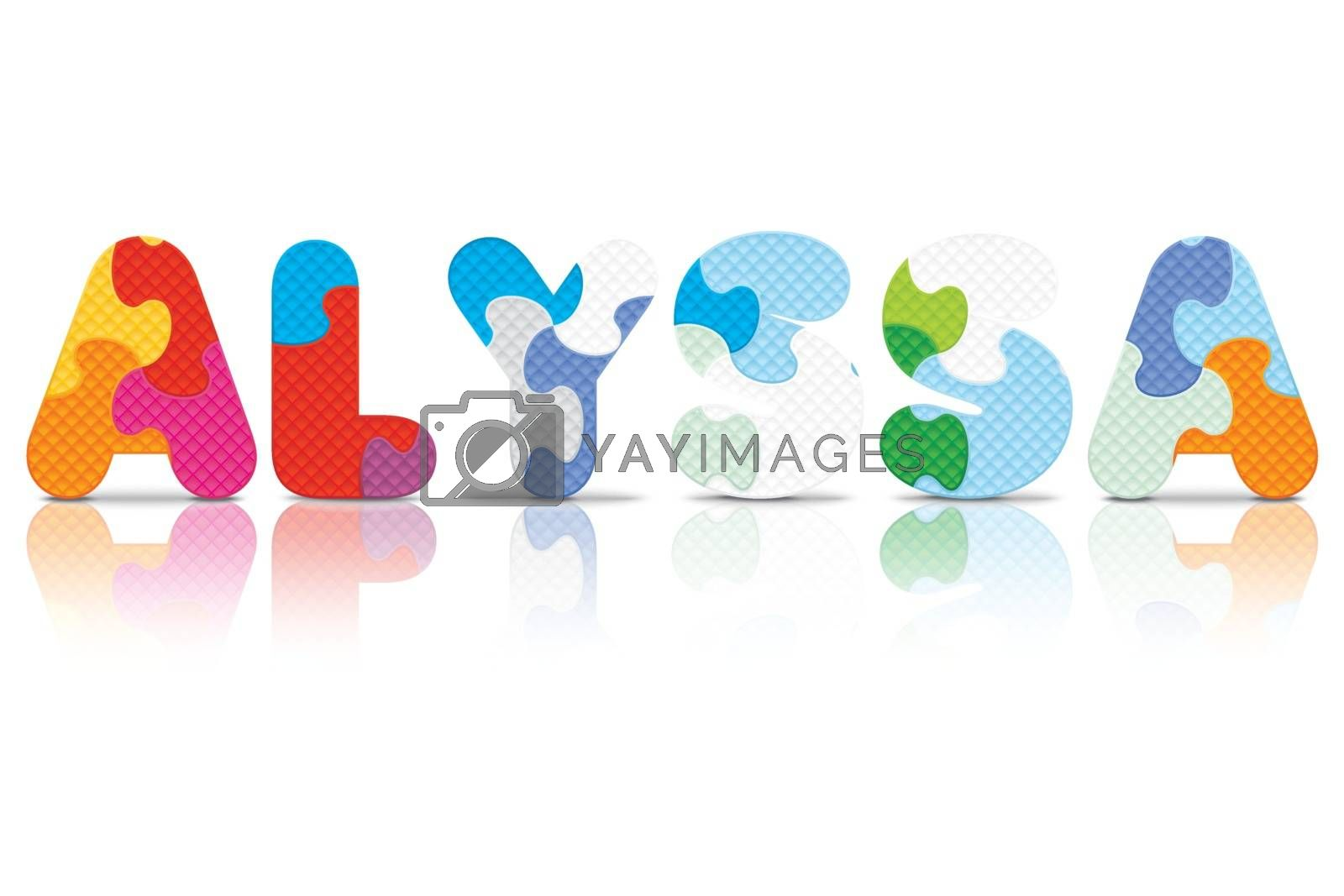 Royalty free image of Vector ALYSSA written with alphabet puzzle by ojal