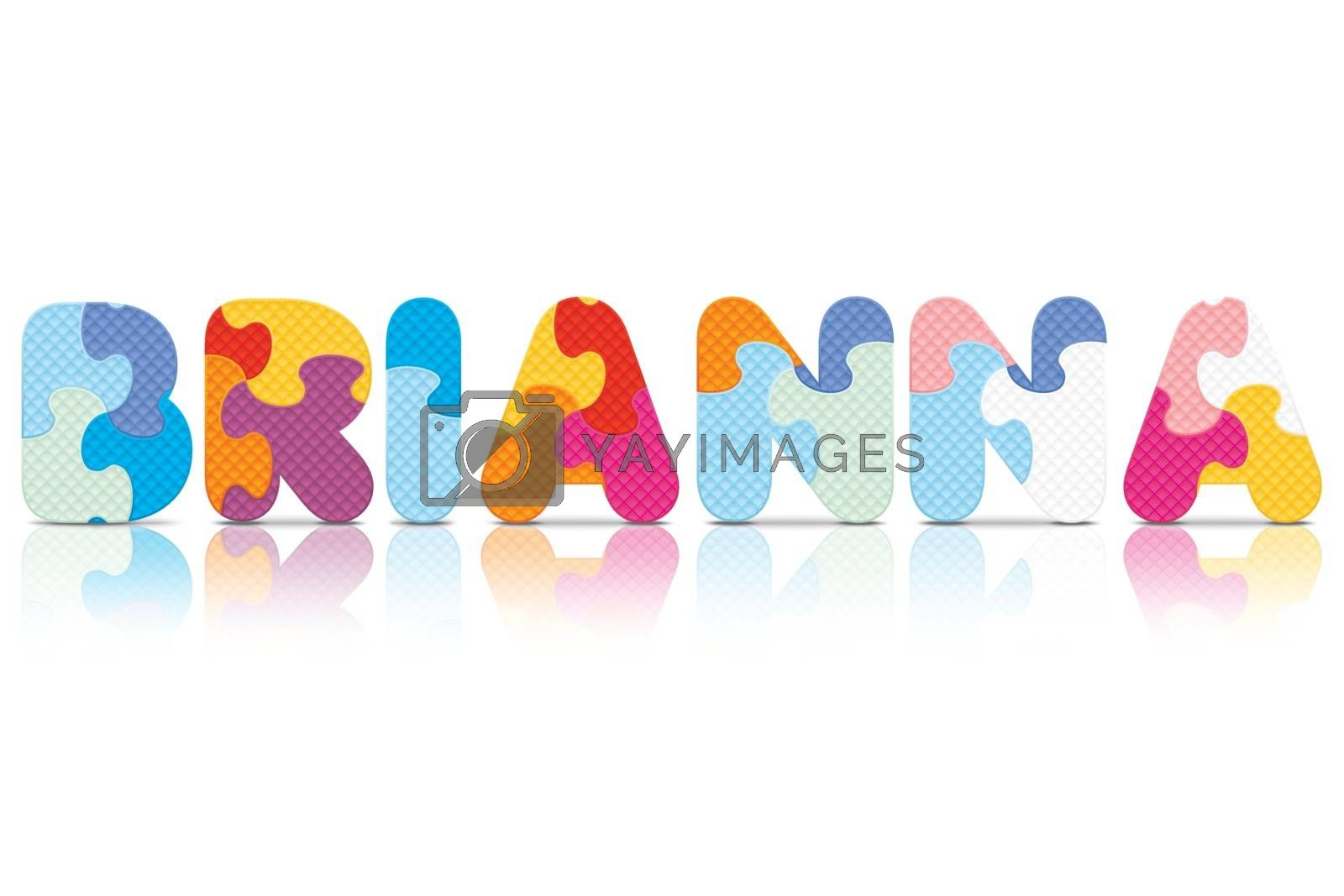 Royalty free image of Vector BRIANNA written with alphabet puzzle by ojal