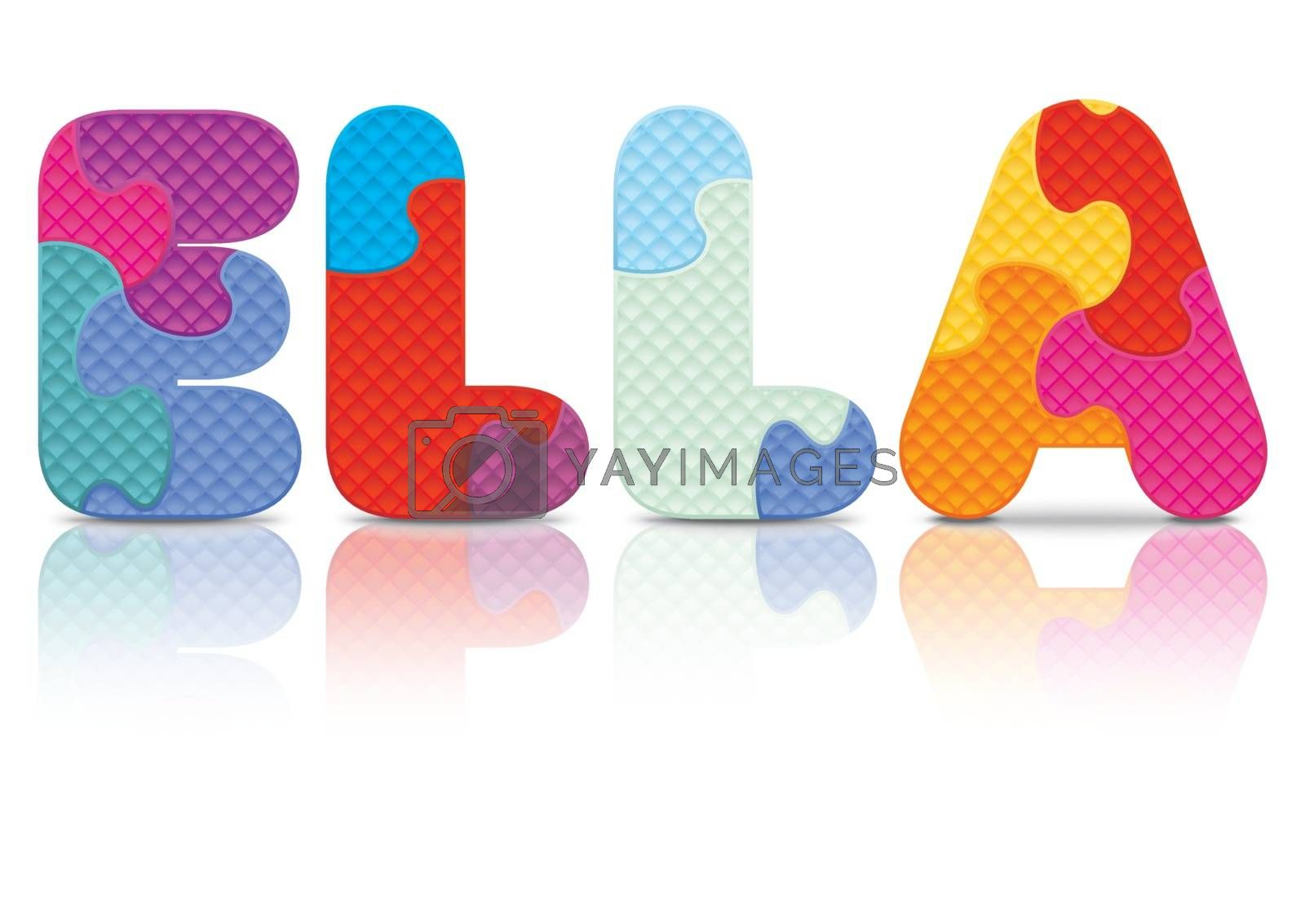 Royalty free image of Vector ELLA written with alphabet puzzle by ojal