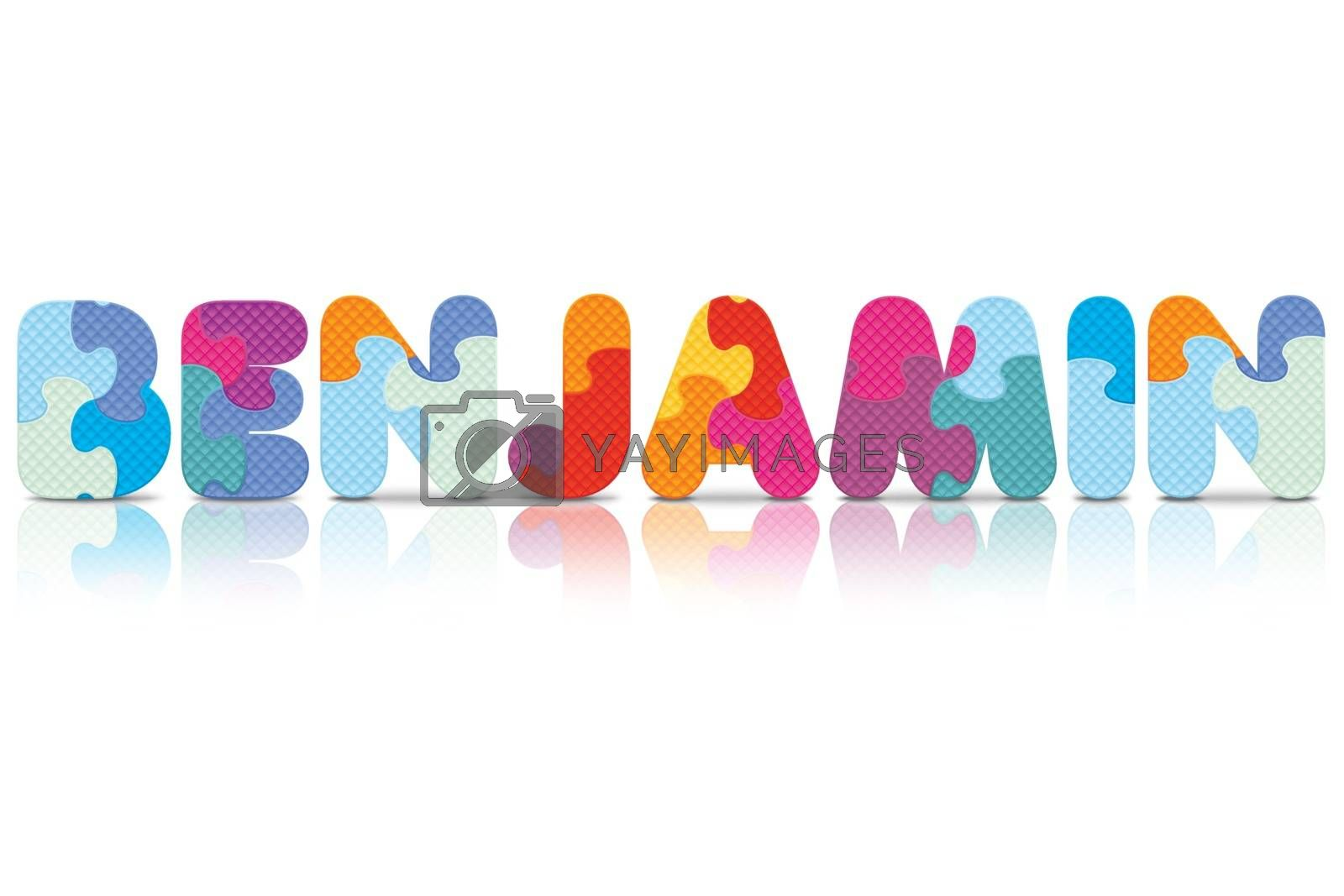 Royalty free image of Vector BENJAMIN written with alphabet puzzle by ojal