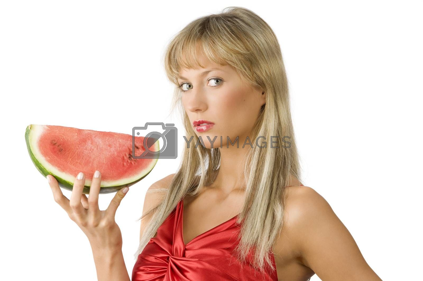 Royalty free image of the watermelon by fotoCD