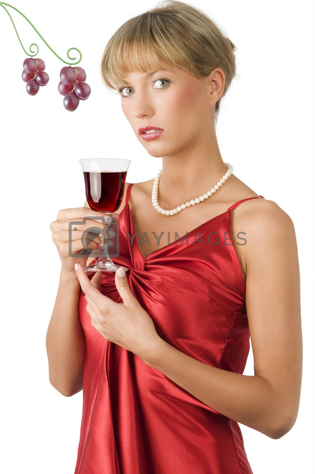 Royalty free image of upscale lady by fotoCD