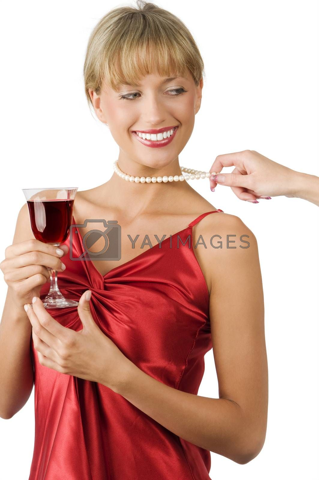 Royalty free image of pulling necklace by fotoCD