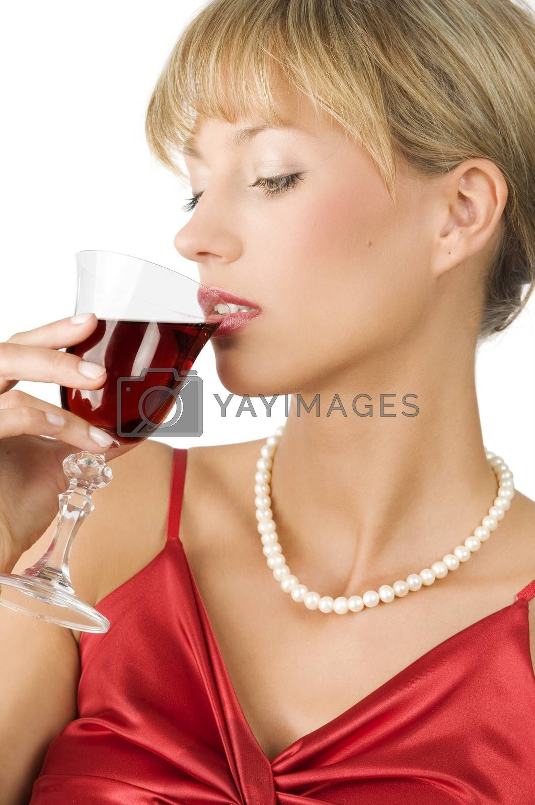 Royalty free image of drinking wine by fotoCD