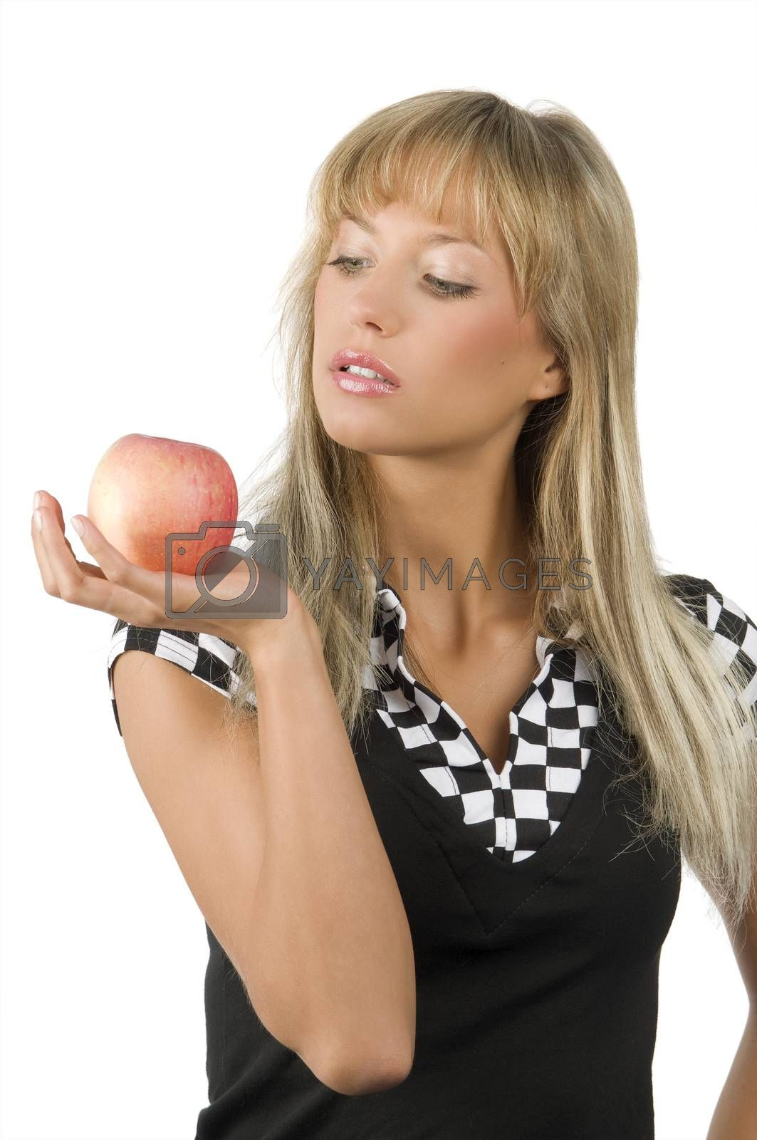 Royalty free image of apple in hand by fotoCD