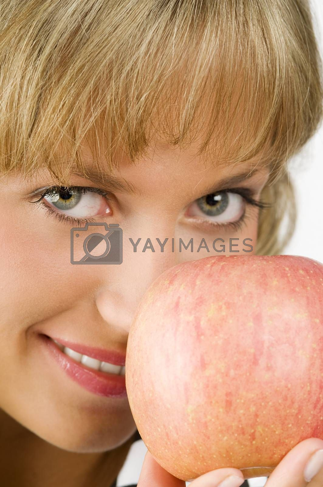Royalty free image of apple close up  by fotoCD