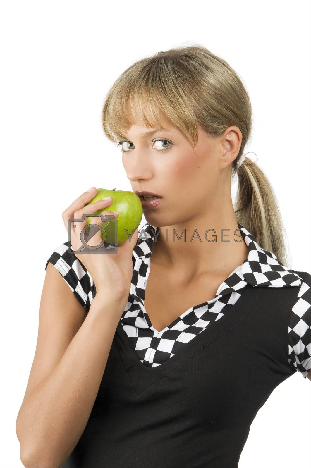 Royalty free image of biting green apple by fotoCD