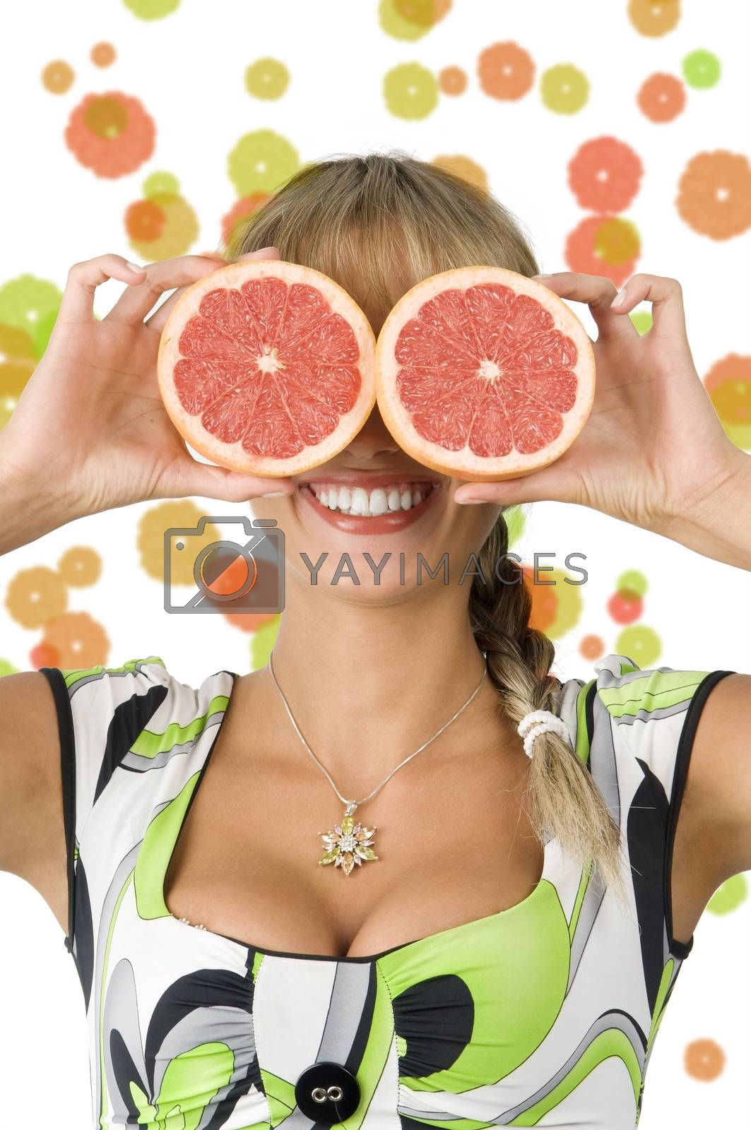 Royalty free image of grapefruit and glasses by fotoCD
