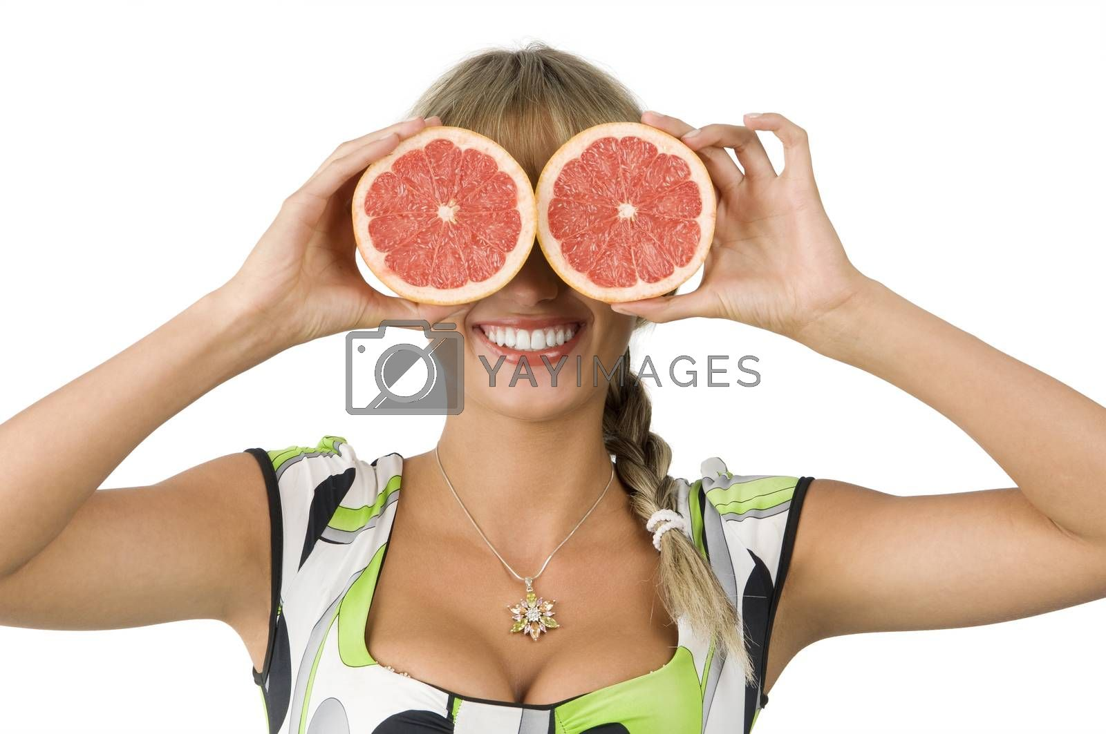 Royalty free image of glasses grapefruit by fotoCD
