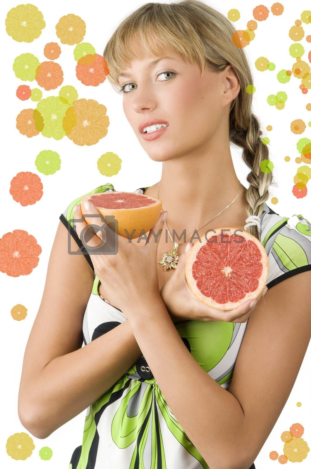 Royalty free image of grapefruit and braid by fotoCD
