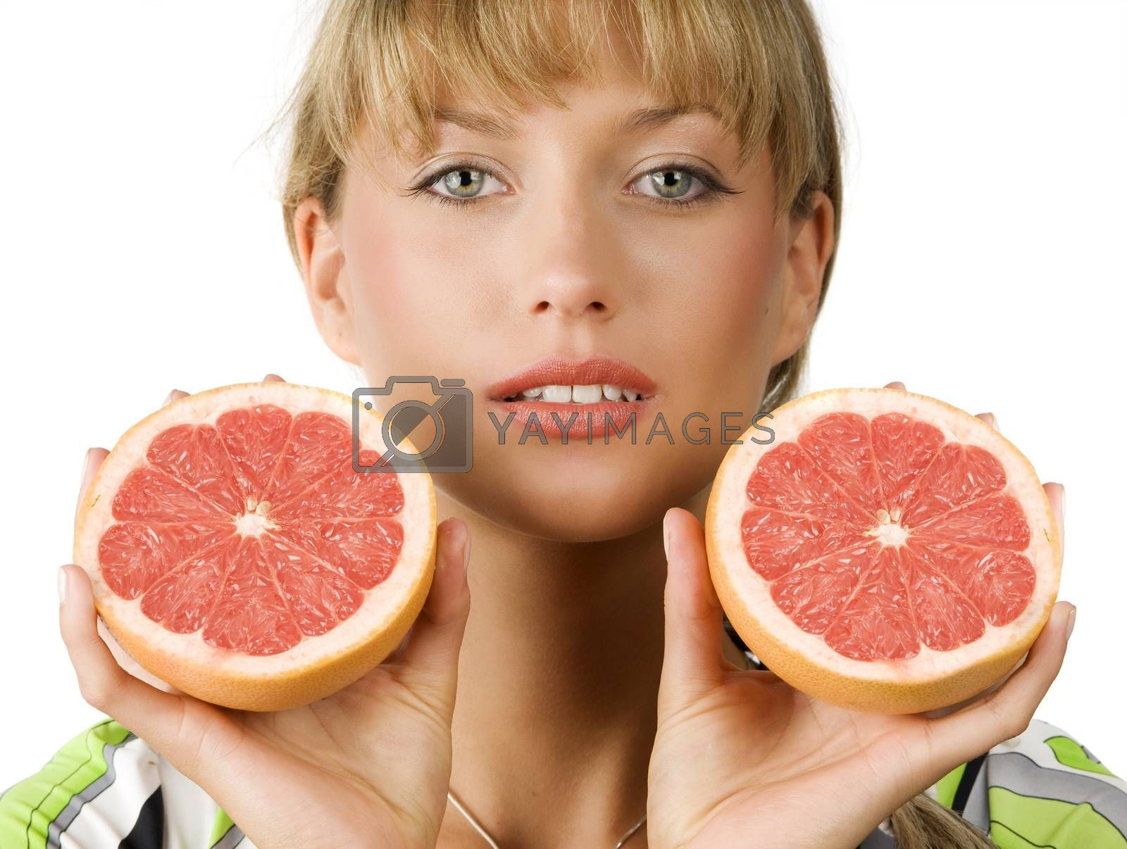 Royalty free image of half grapefruit by fotoCD