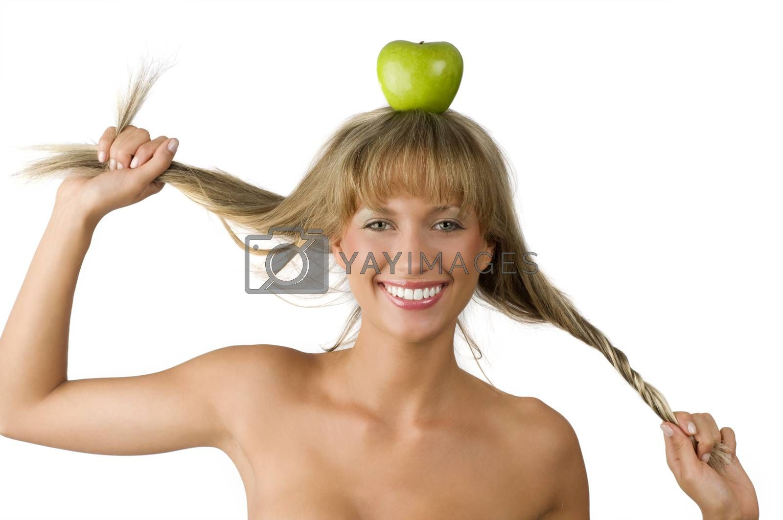 Royalty free image of pulling hair by fotoCD