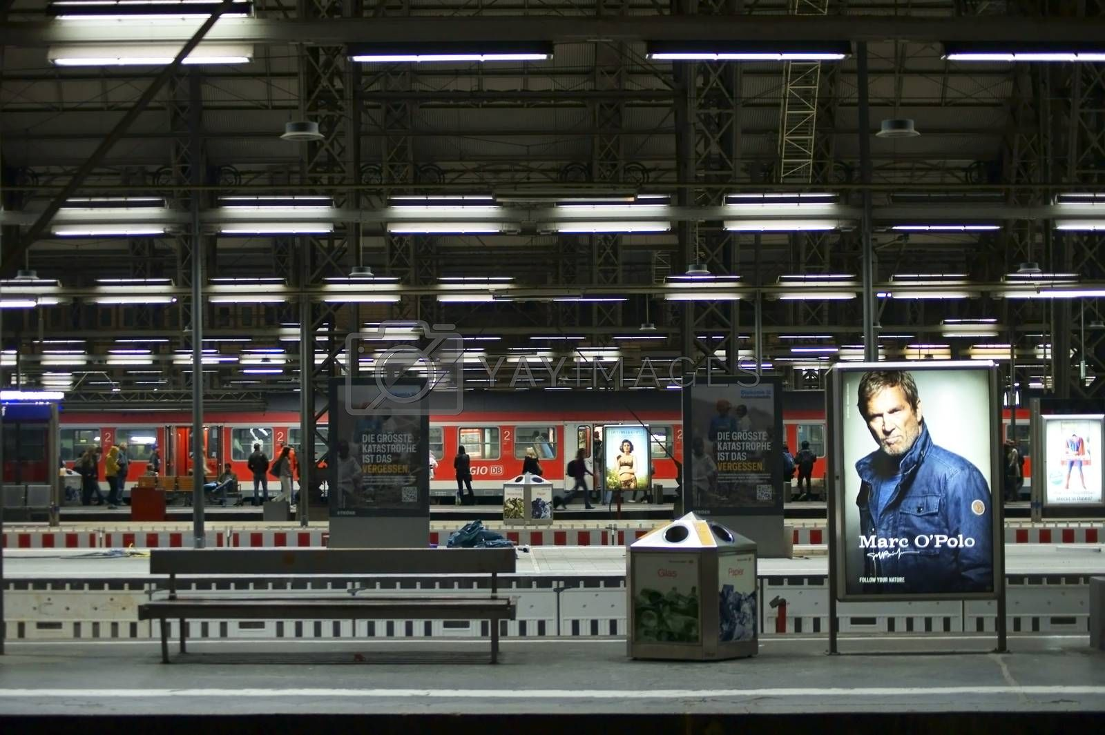 Royalty free image of Railway station Frankfurt by ginton