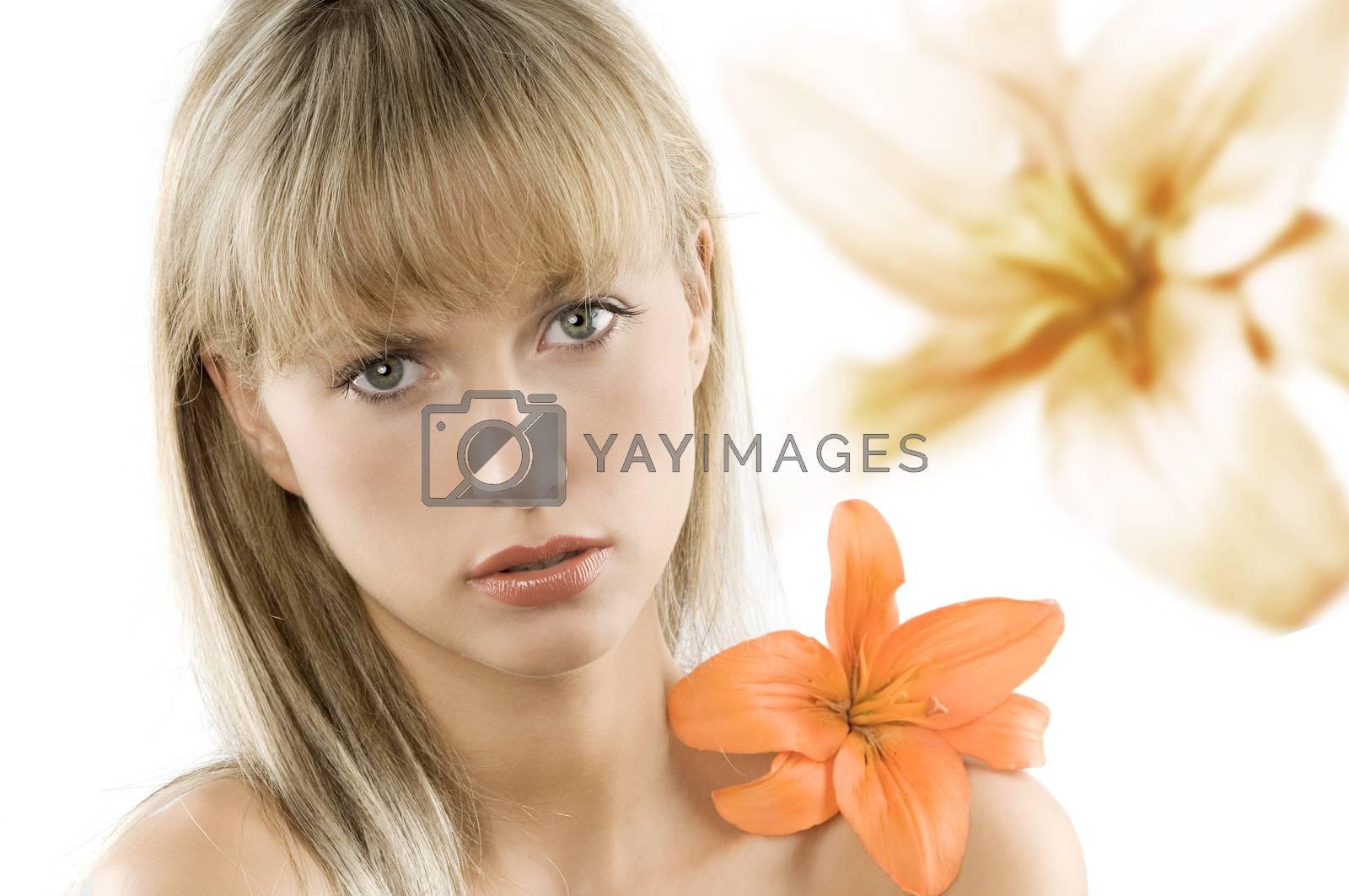 Royalty free image of orange flower by fotoCD