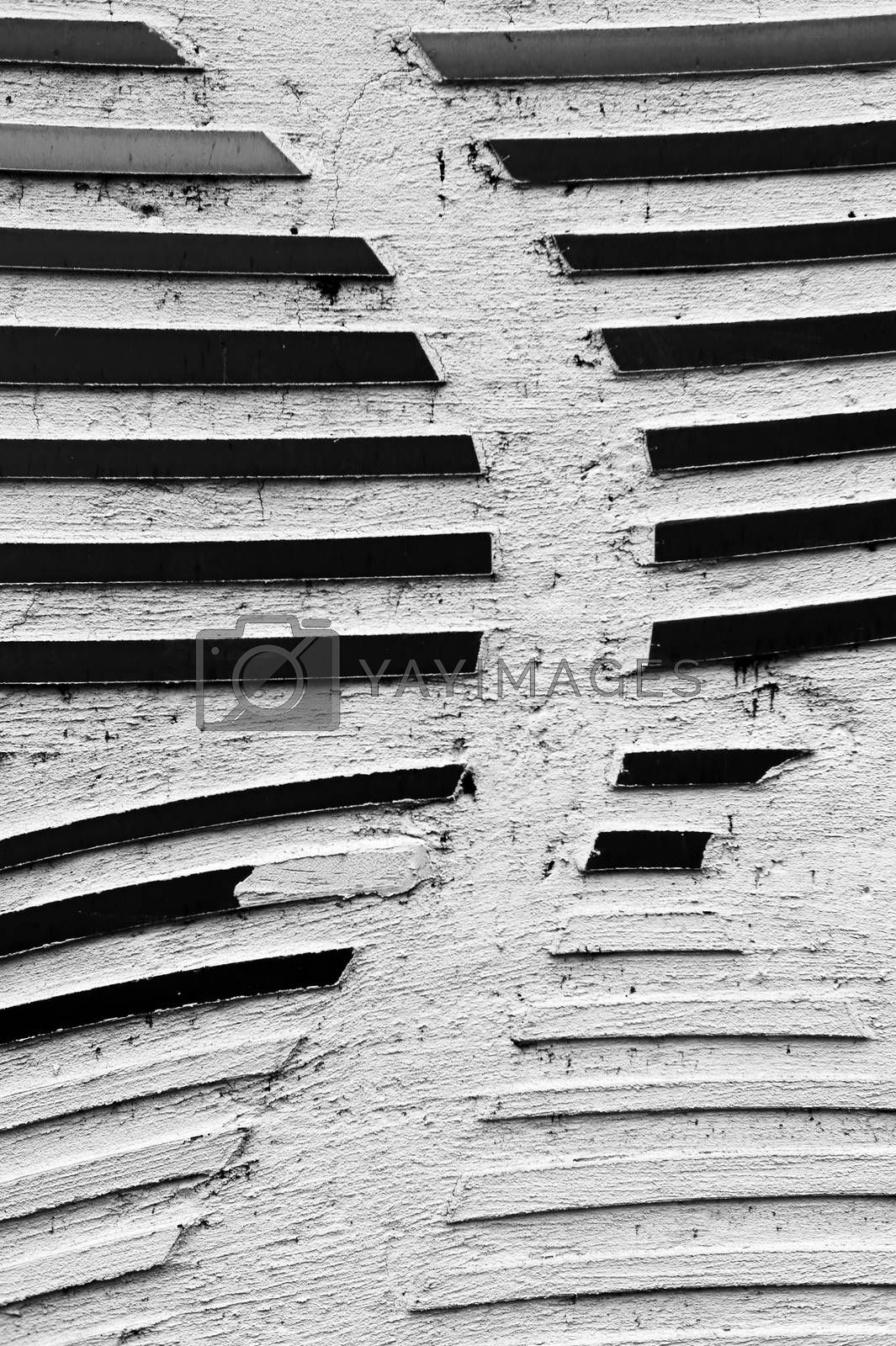 Royalty free image of Damaged wall ornaments by ginton