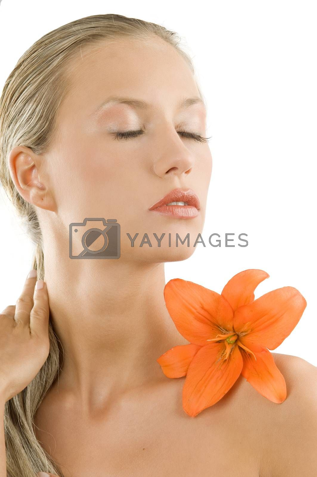 Royalty free image of closed eyes by fotoCD