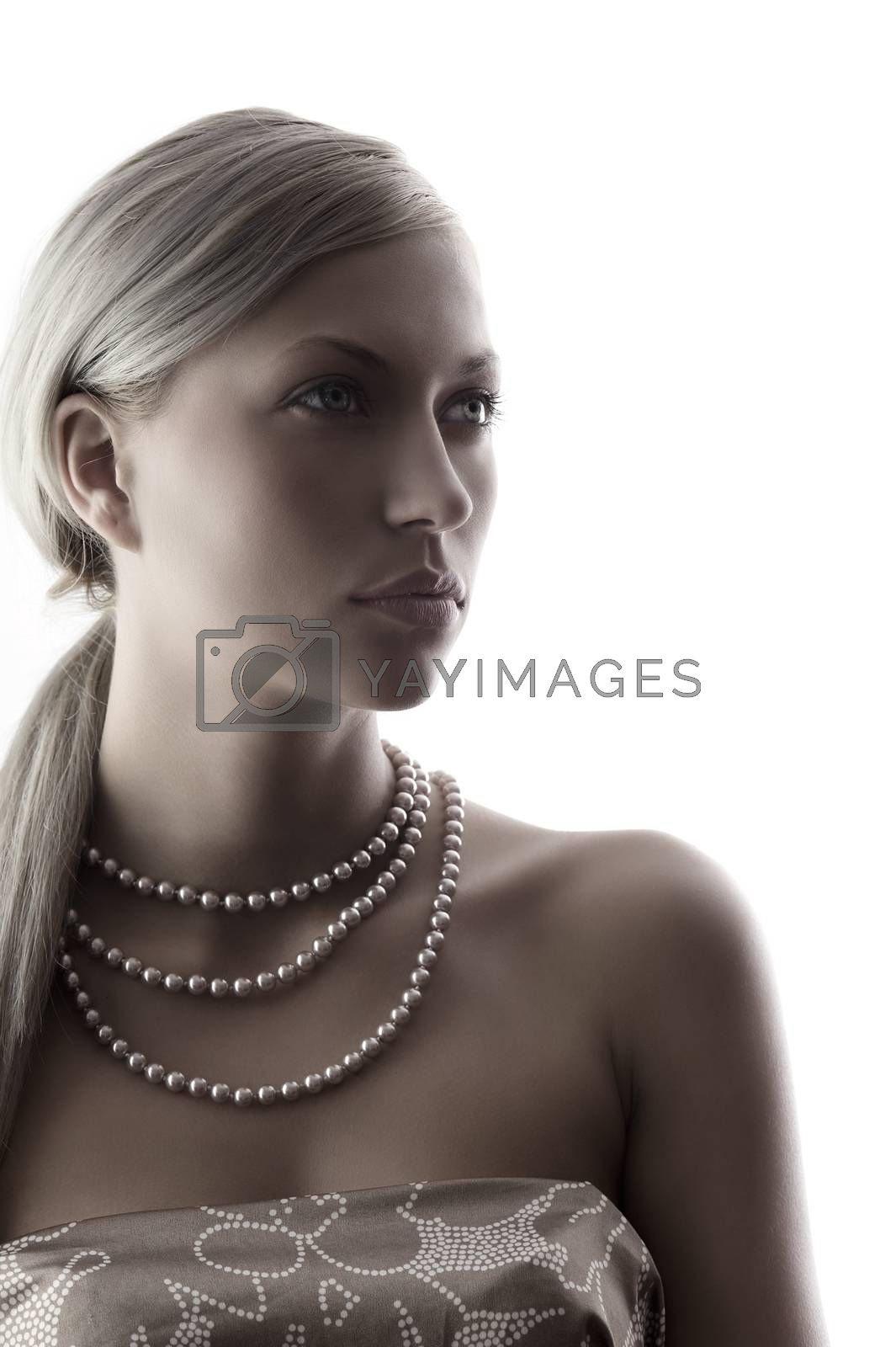 Royalty free image of lady with pearl by fotoCD