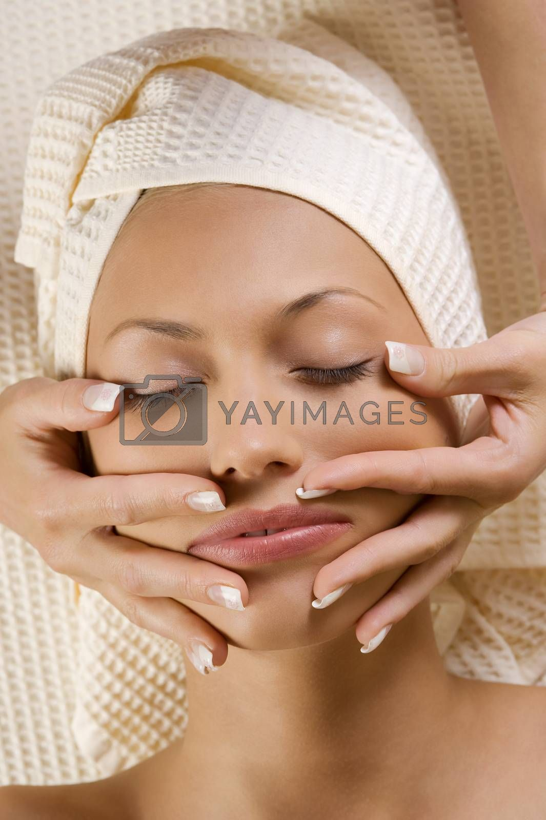 Royalty free image of stretching face by fotoCD