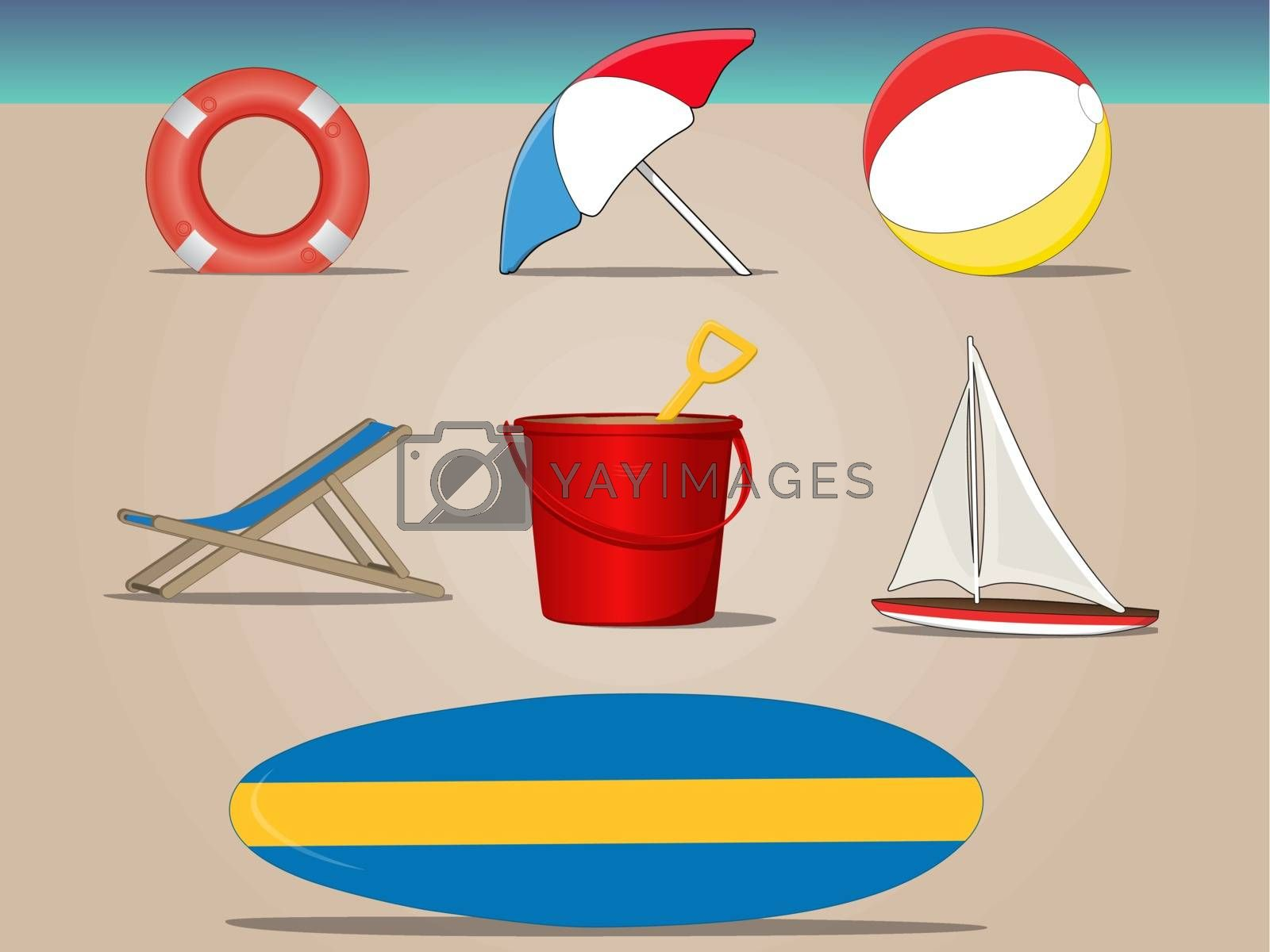 Royalty free image of Beach Icon Set by graphicgeoff