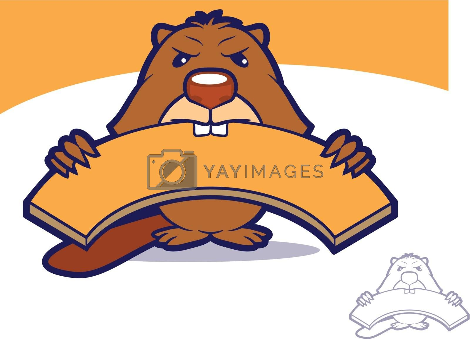 Royalty free image of Beaver Mascot Character by graphicgeoff