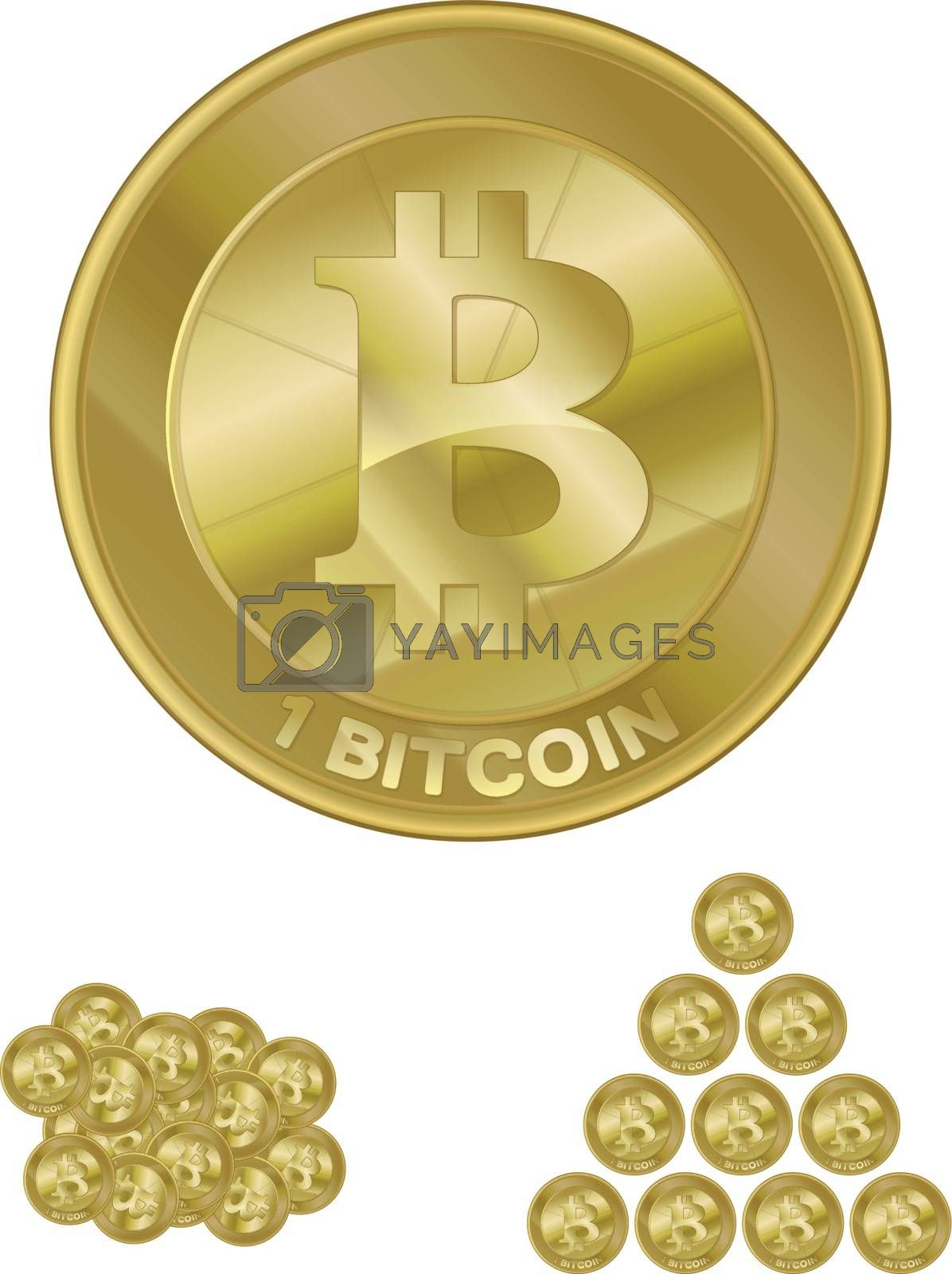 Royalty free image of Bitcoin by graphicgeoff