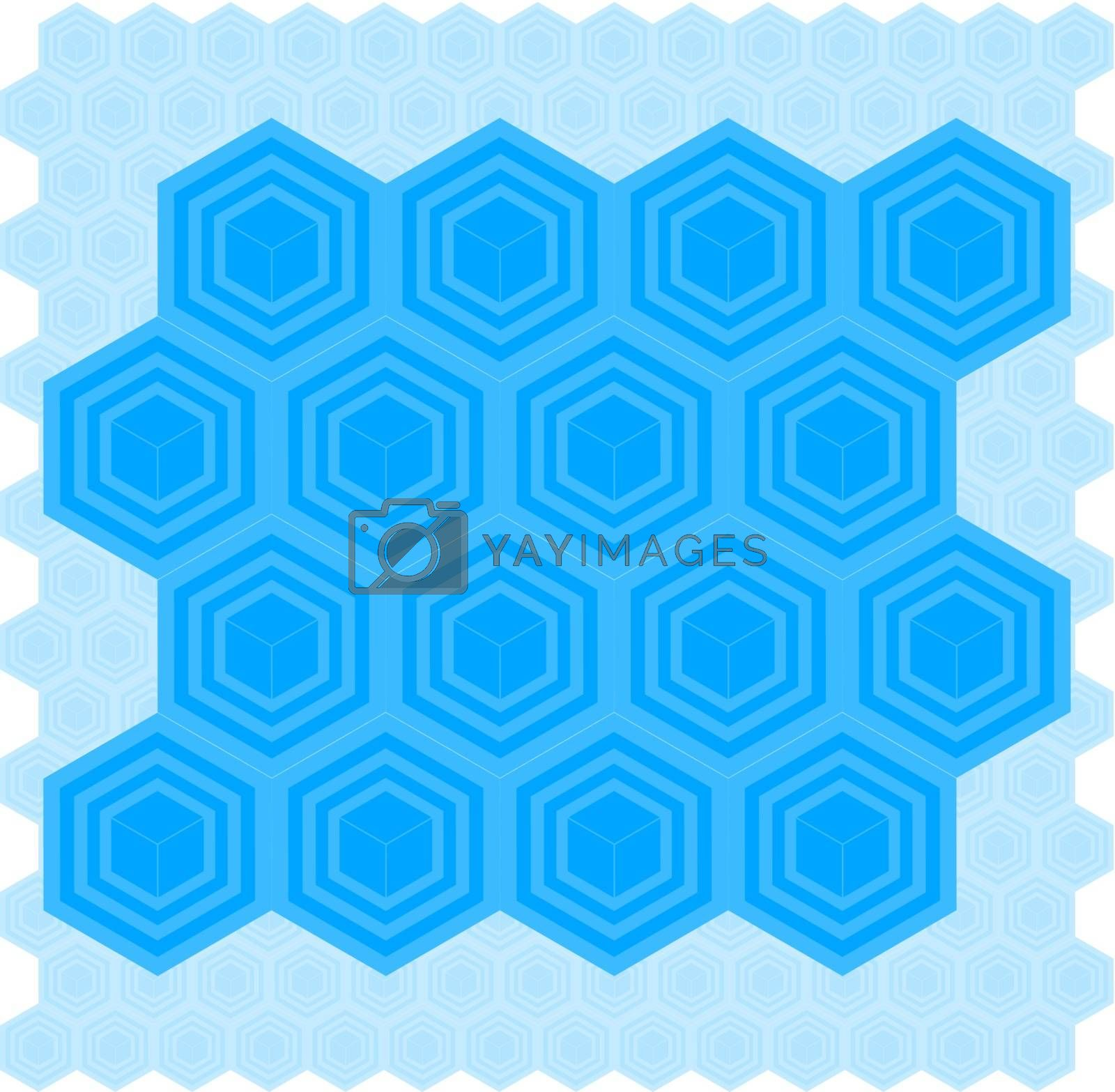 Royalty free image of Blue Box Pattern by graphicgeoff