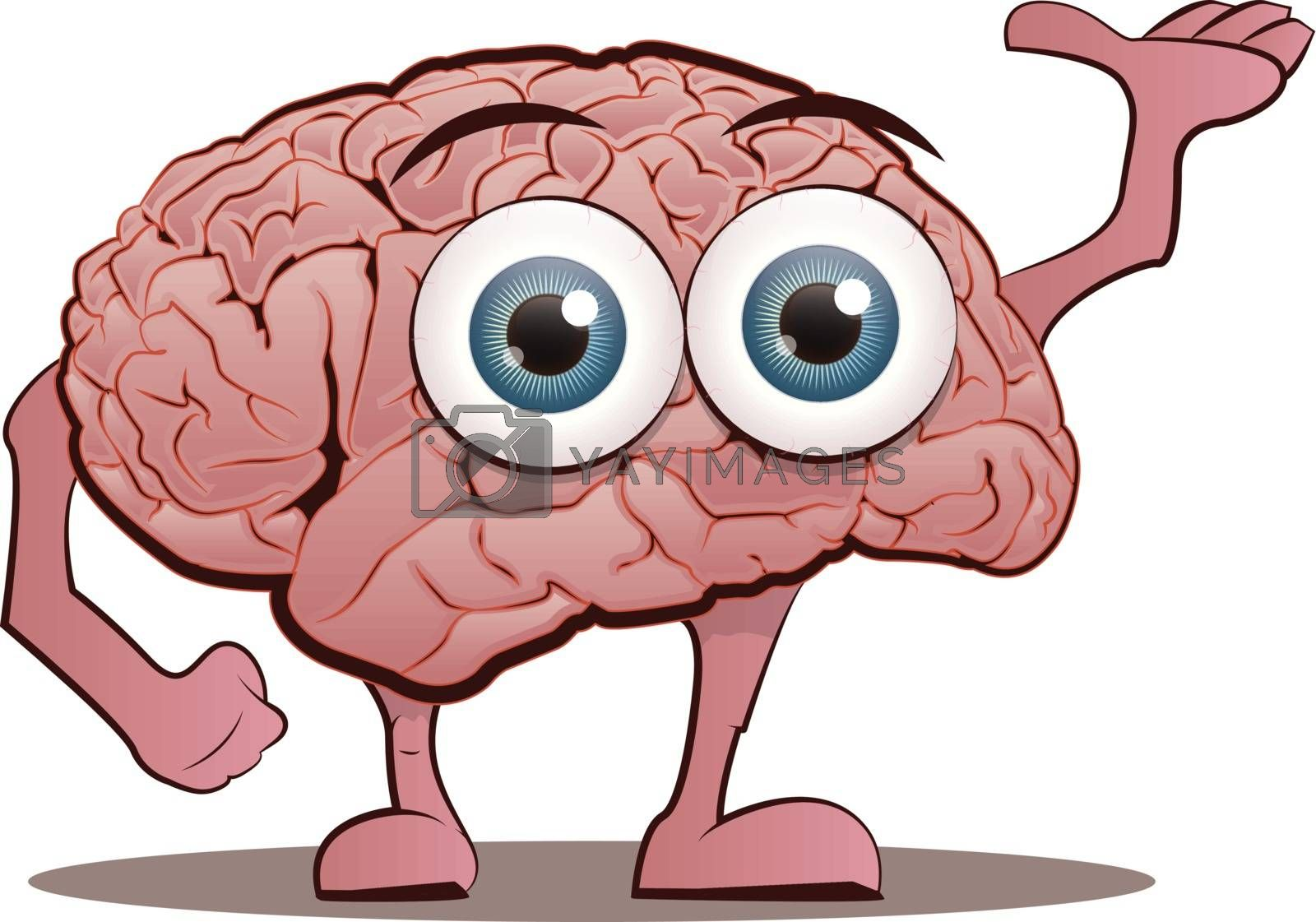 Royalty free image of Brain Character by graphicgeoff