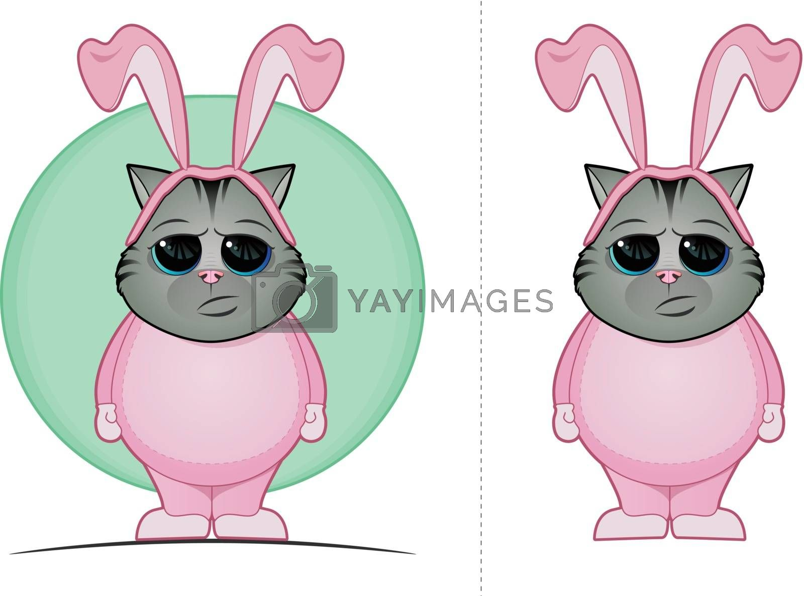 Royalty free image of Easter Cat by graphicgeoff