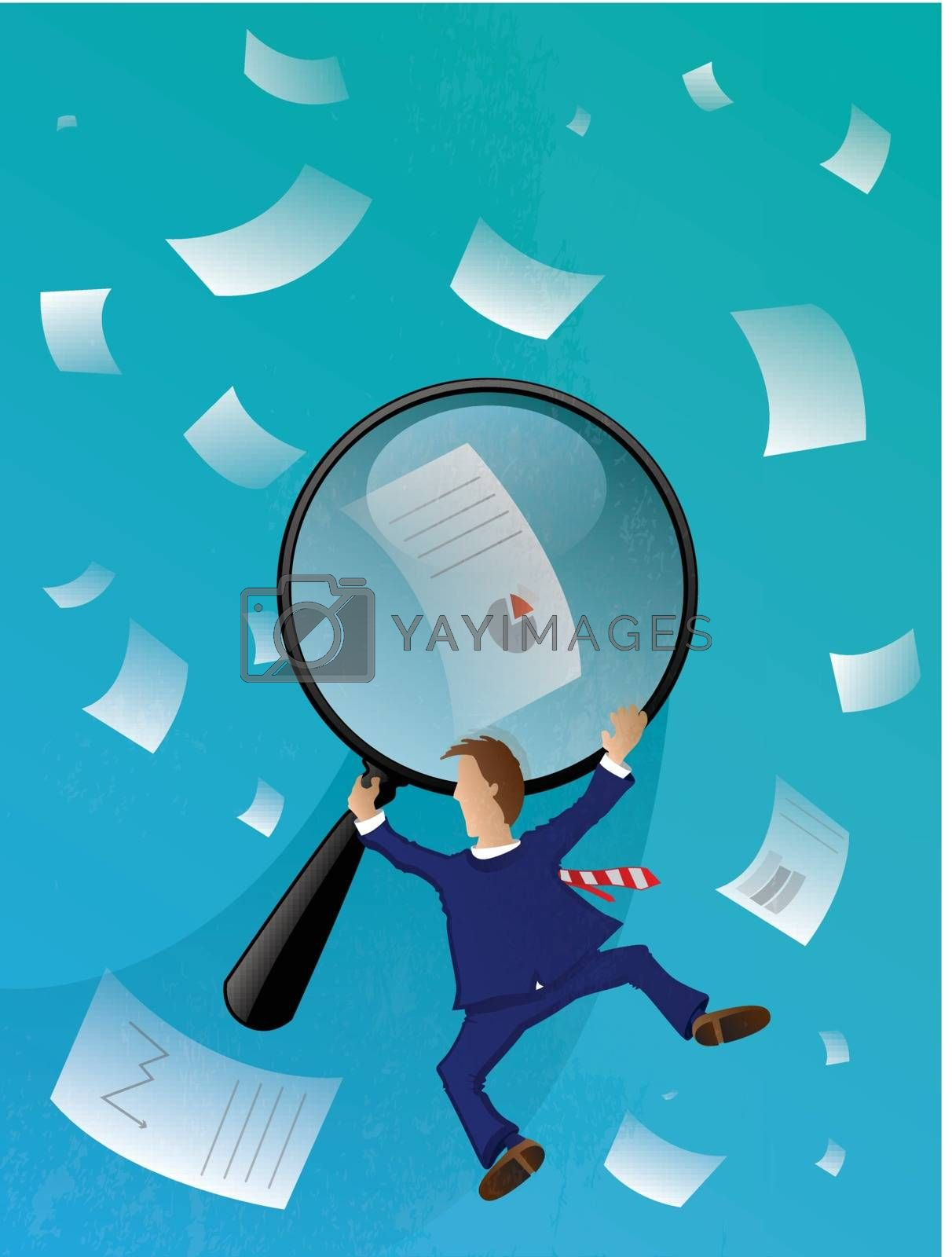 Royalty free image of Business Man Searching by graphicgeoff