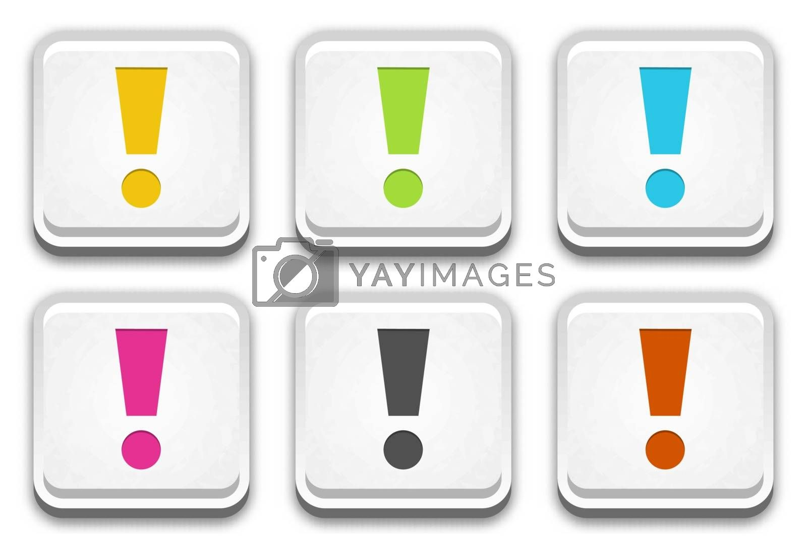 Royalty free image of the button set with exclamation mark by madtom